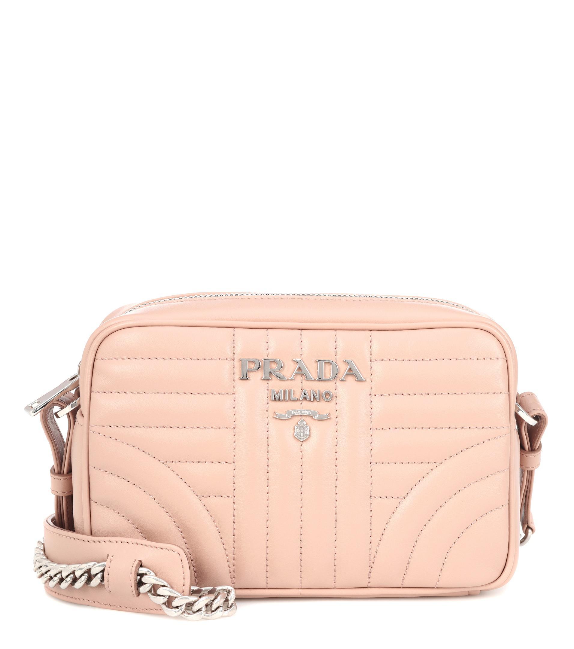 44fdbaa15728 Prada Diagramme Leather Shoulder Bag in Natural - Lyst