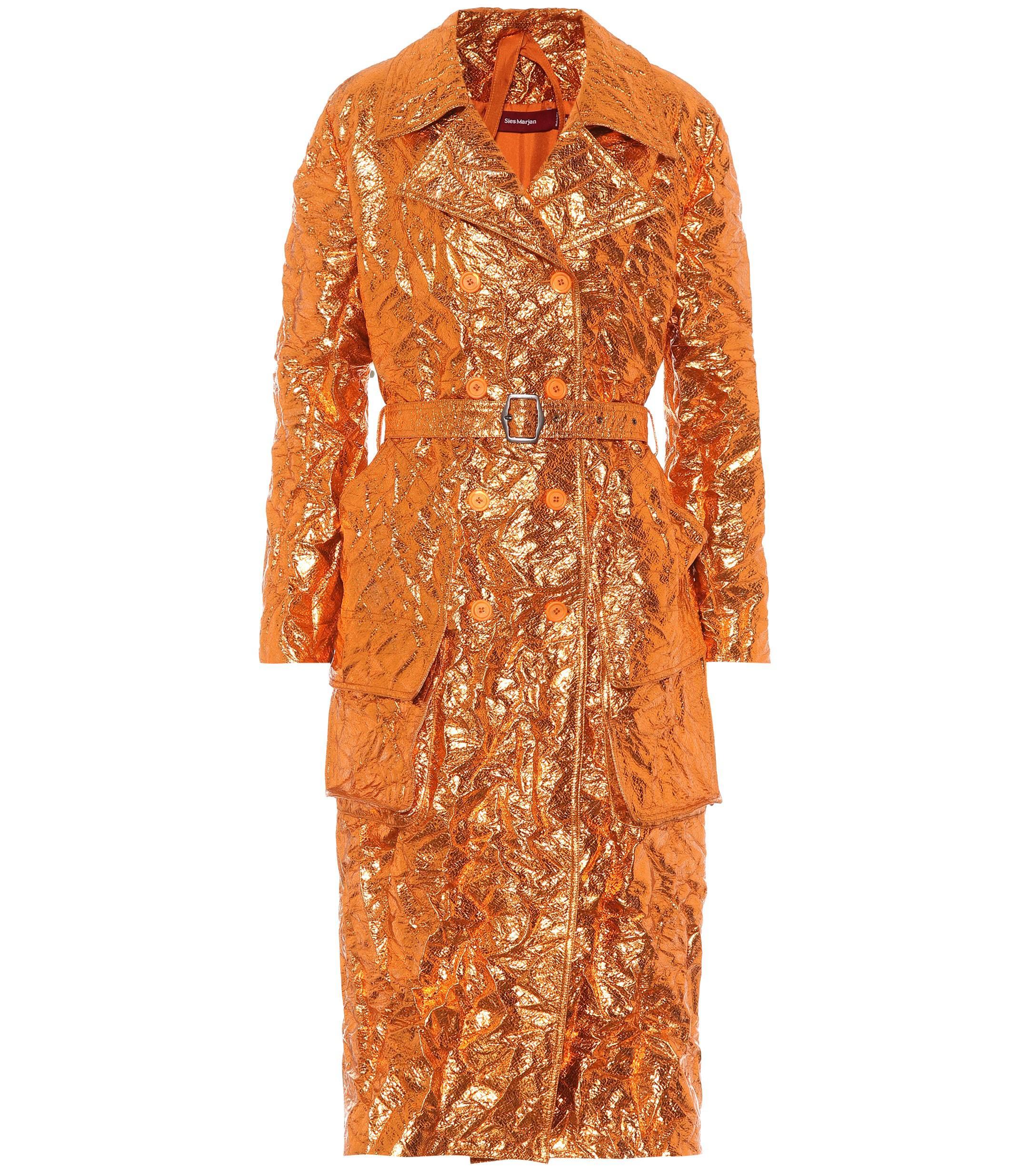 Marjan Bessie Sies Trench View Lyst Orange Fullscreen Coat CqvBdaT