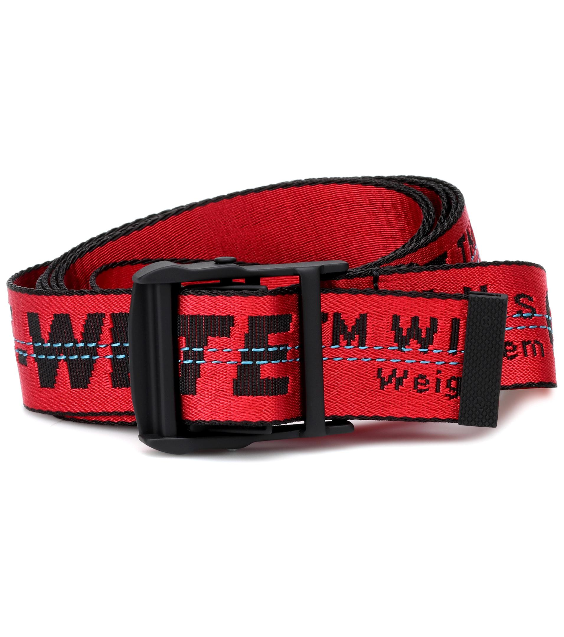 Lyst - Ceinture Industrial Off-White c o Virgil Abloh en coloris Rouge cfe7ff8dfd3