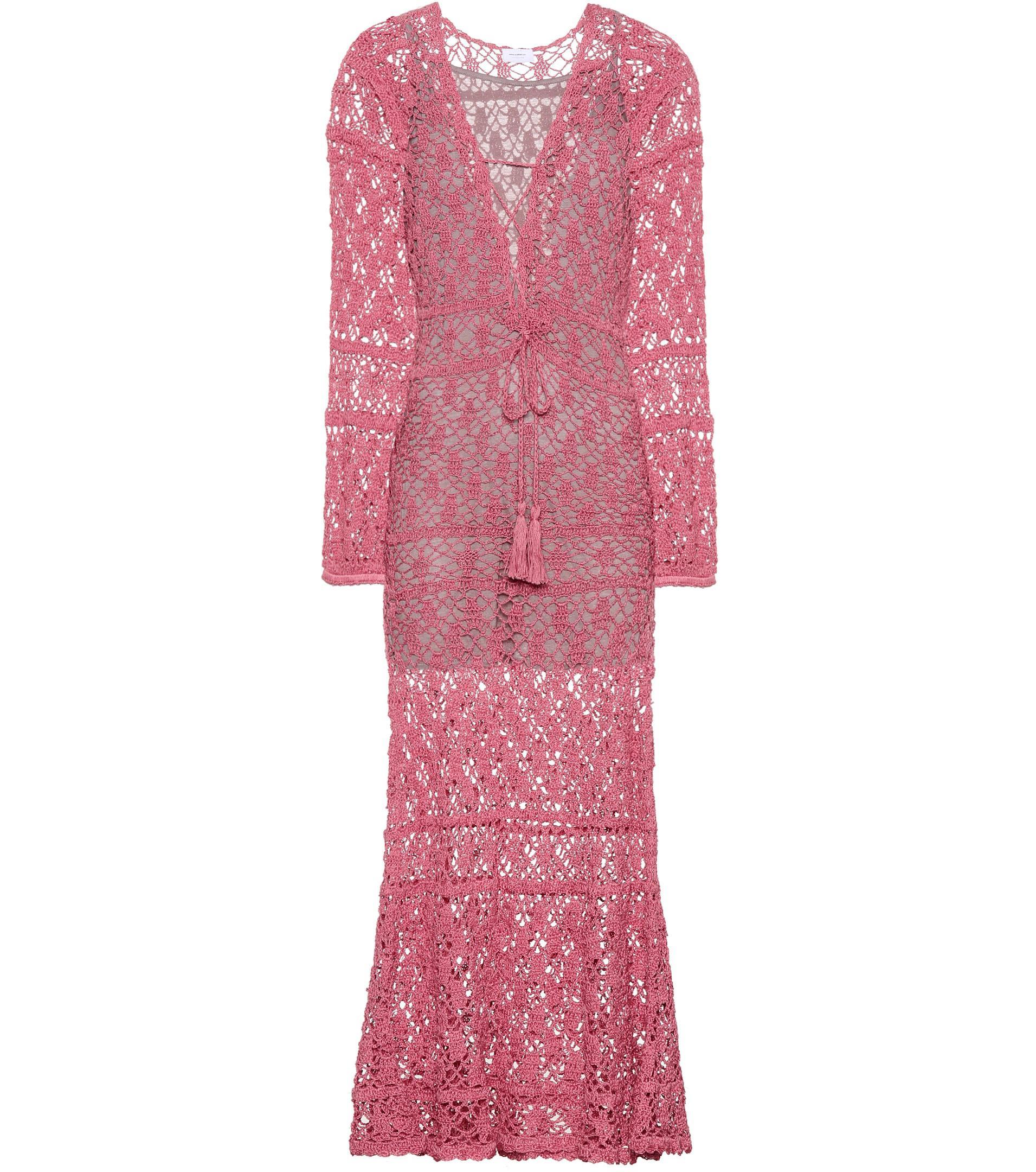 Mesh cotton maxi dress Anna Kosturova 3mHrcbE7