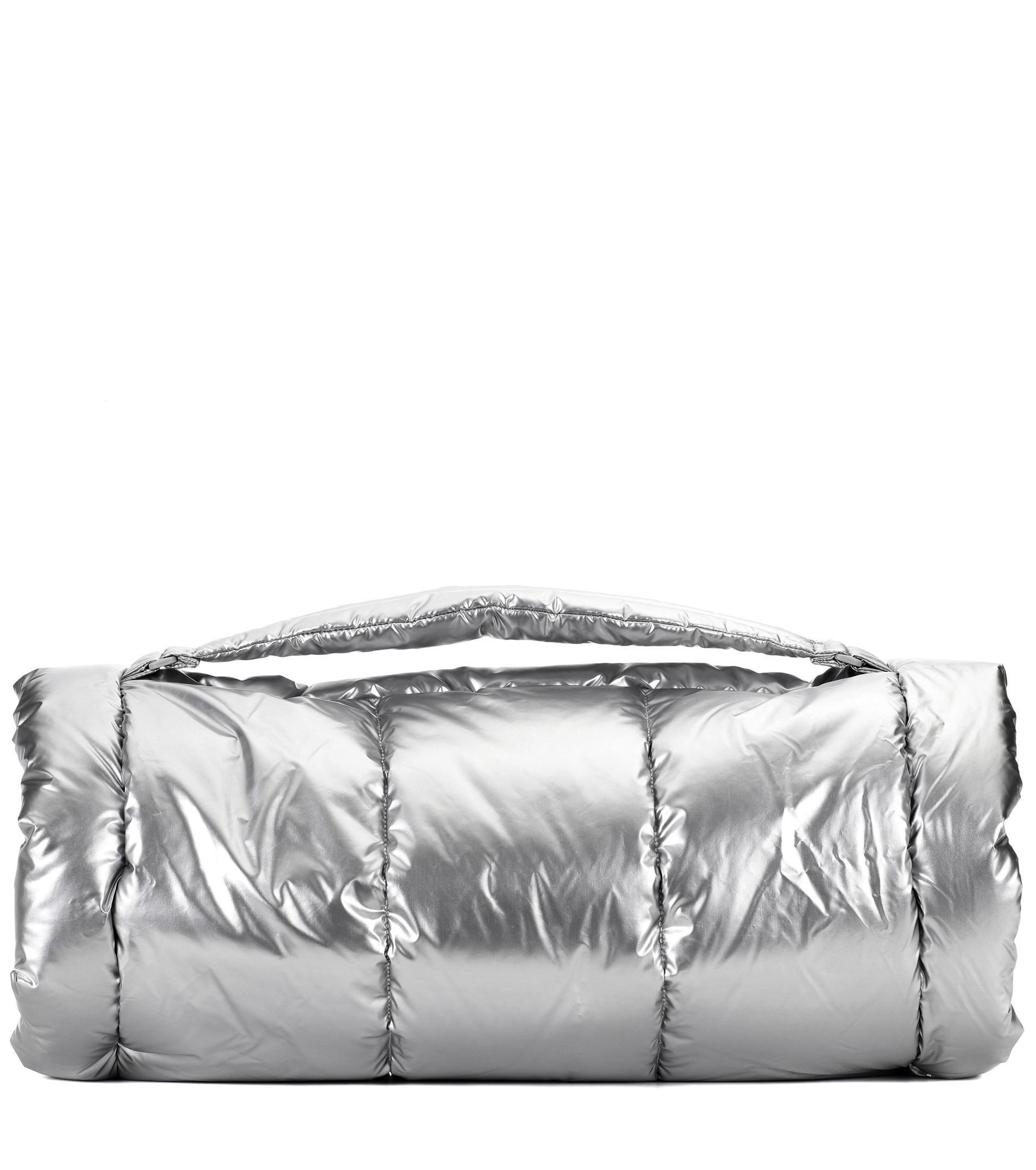 Lyst - PUMA Metallic Padded Gym Bag in Metallic 5788b33fe8f41