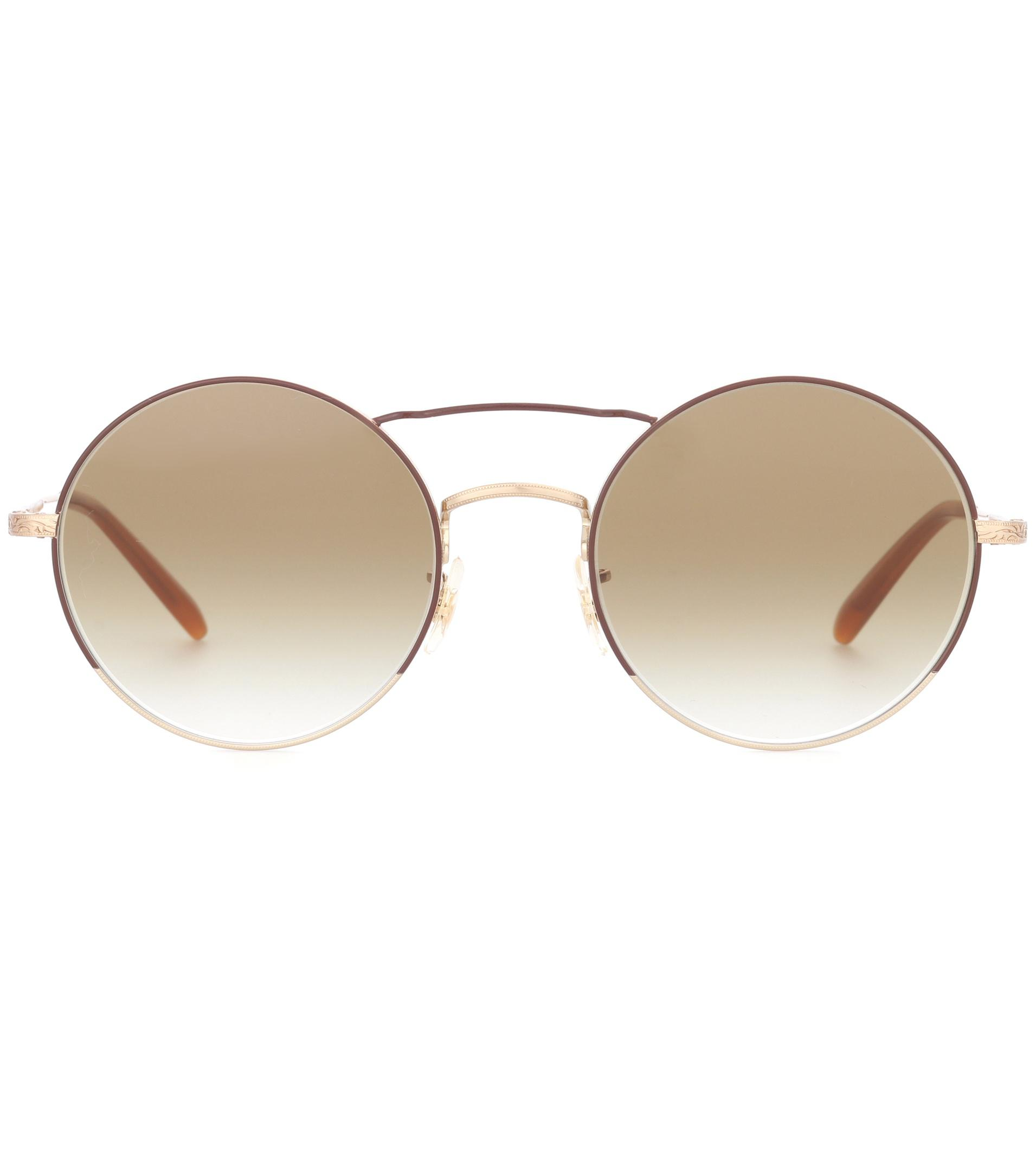 447c2fae6cf Oliver Peoples Nickol Round Sunglasses - Lyst