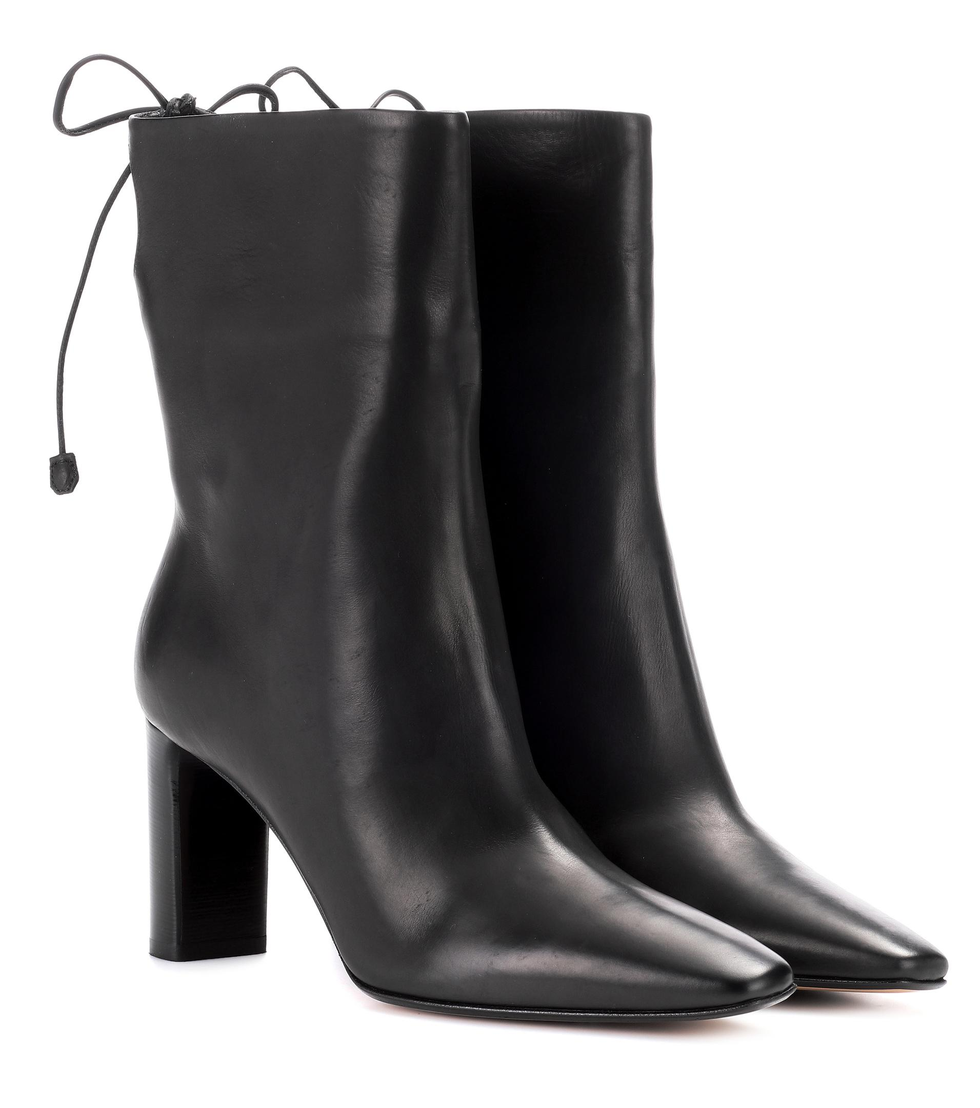 The Row Emil leather ankle boots Deals Cheap Online Outlet From China muCNQy0pz0