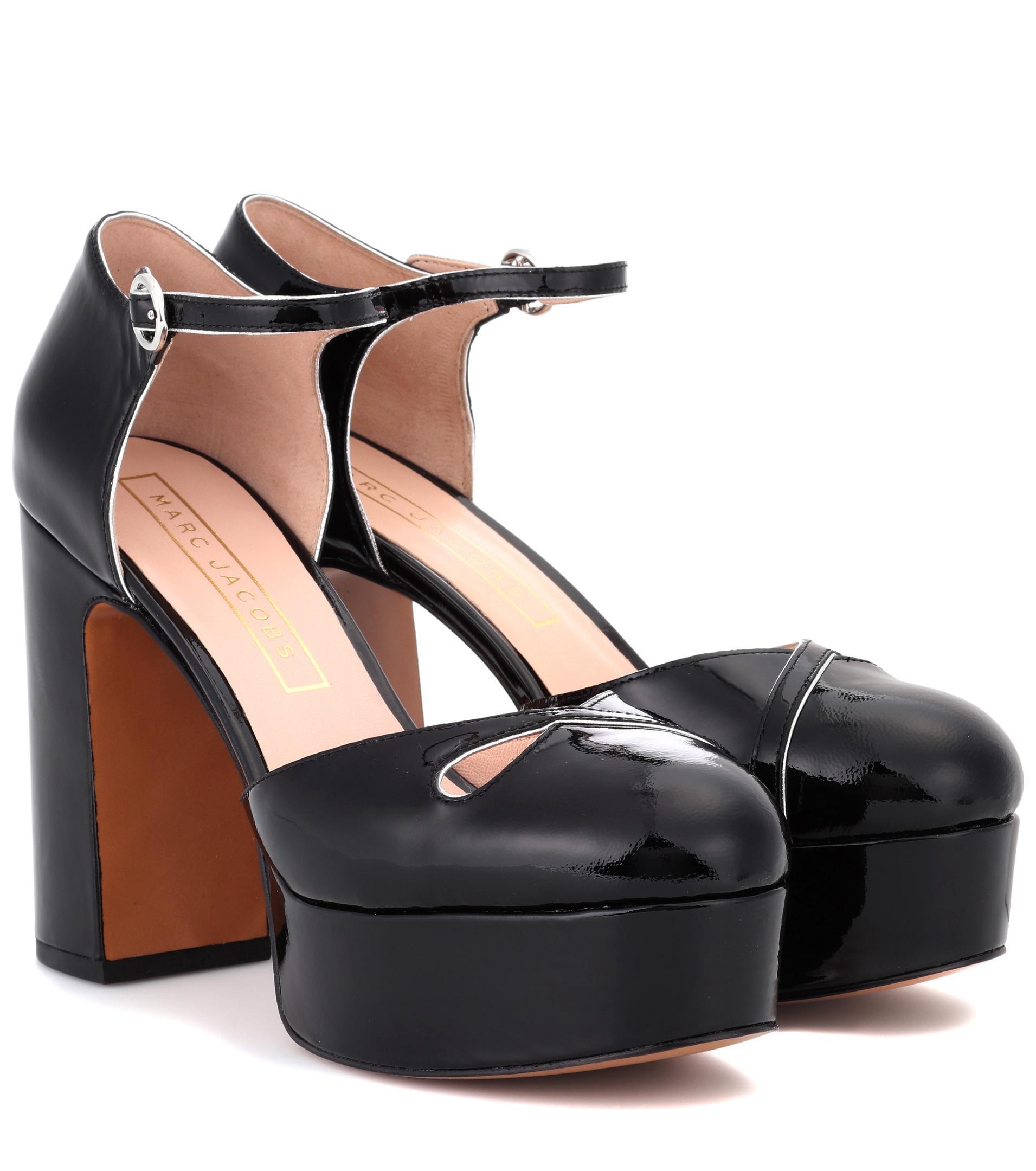 Marc Jacobs Patent leather plateau pumps c9KPAt