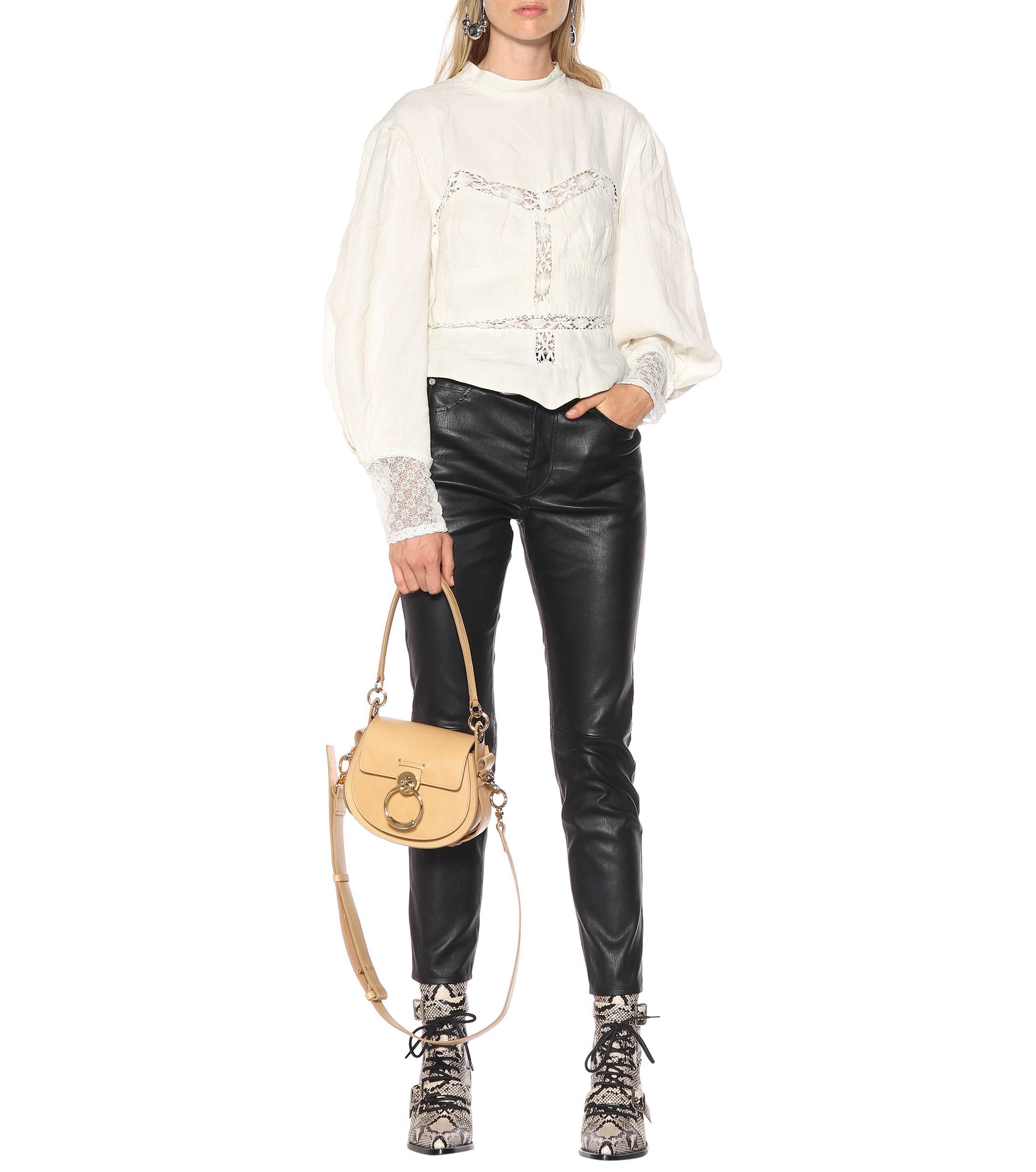 dc009a99c8d5b4 Isabel Marant - White Lyneth Lace-trimmed Cotton Blouse - Lyst. View  fullscreen