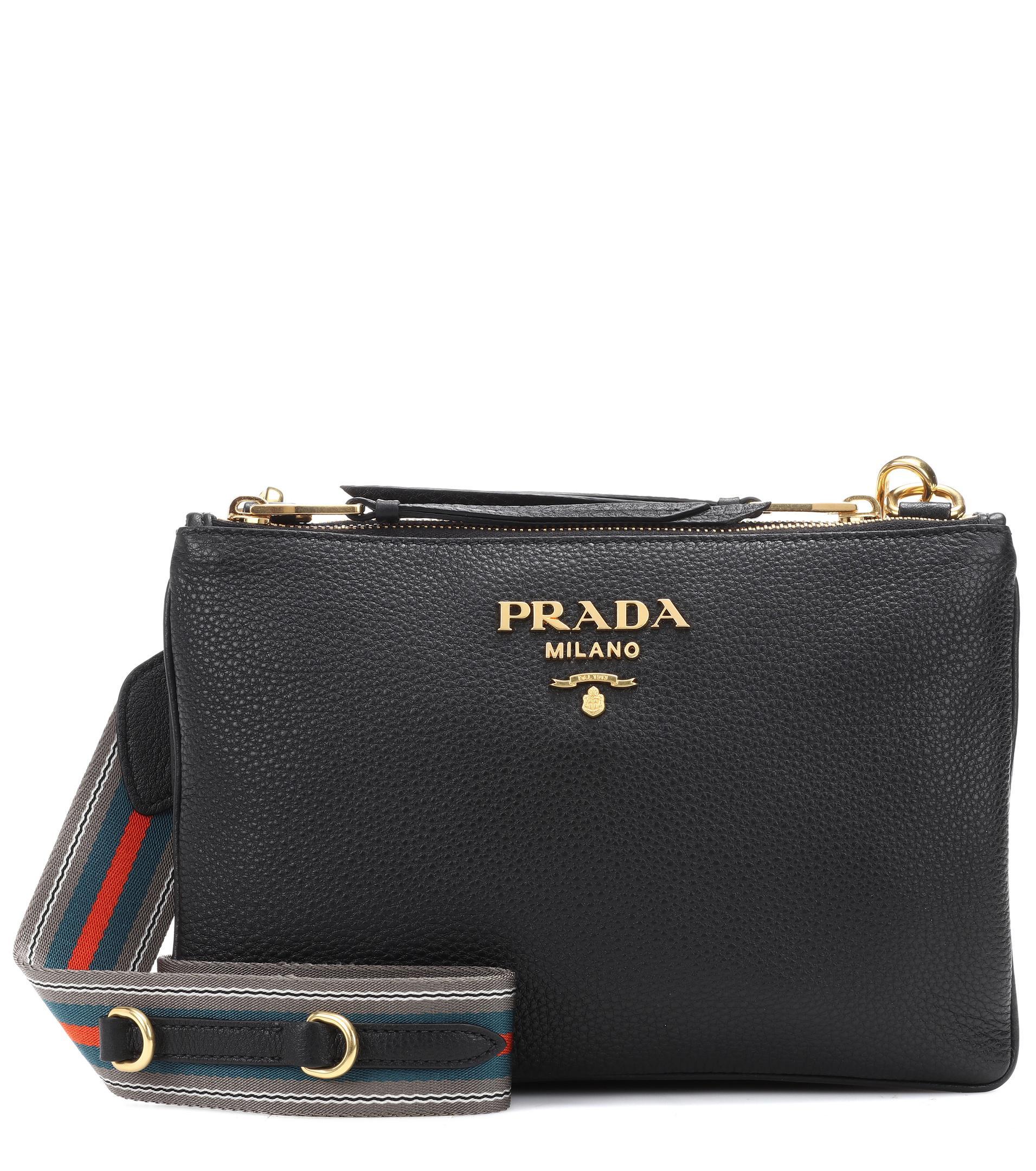 c9625adc4b ... buy prada black daino small leather crossbody bag lyst. view fullscreen  09319 462ef