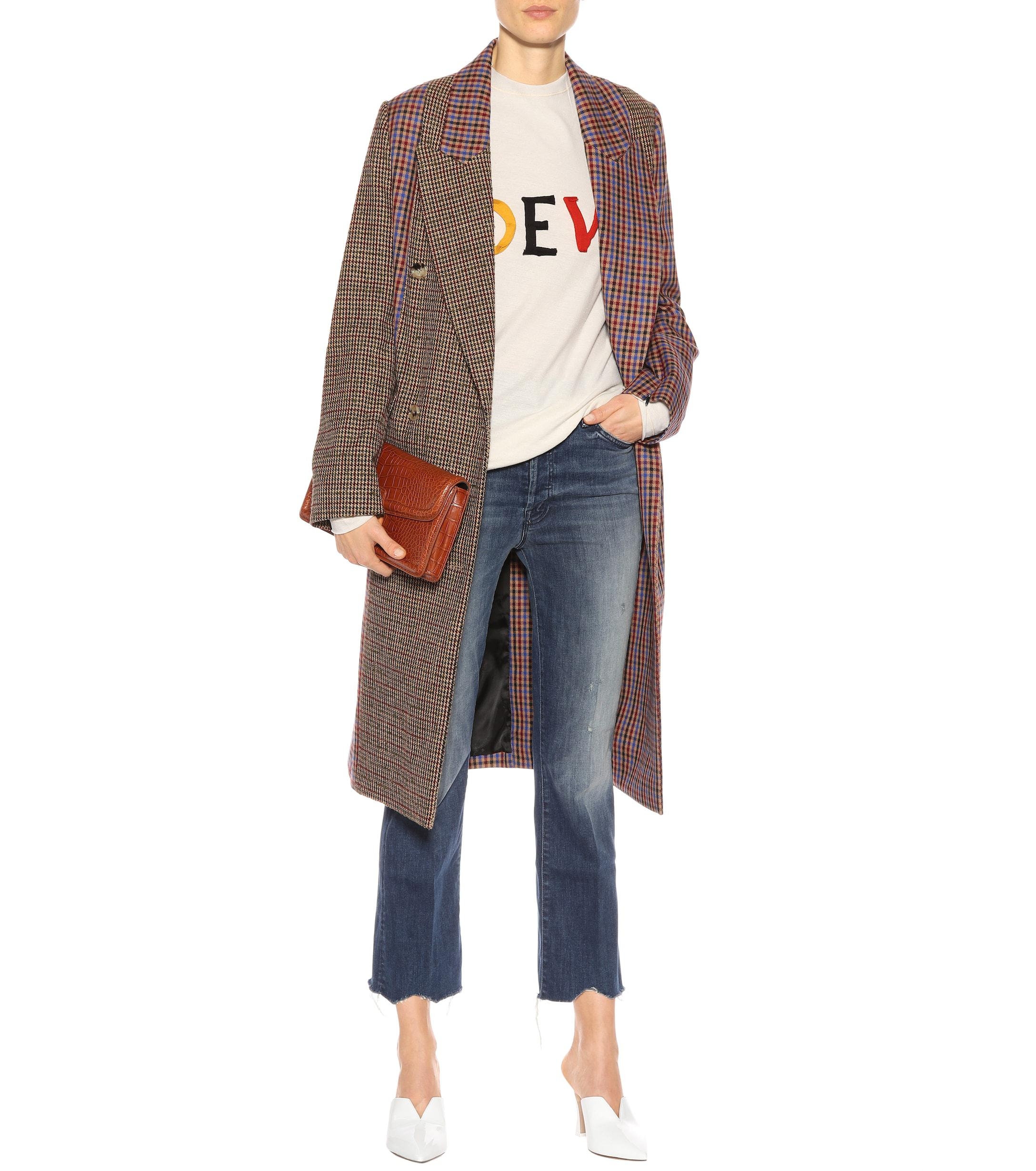 e3eb103353e Lyst - Mother Button Fly Hustler Ankle Jeans in Blue