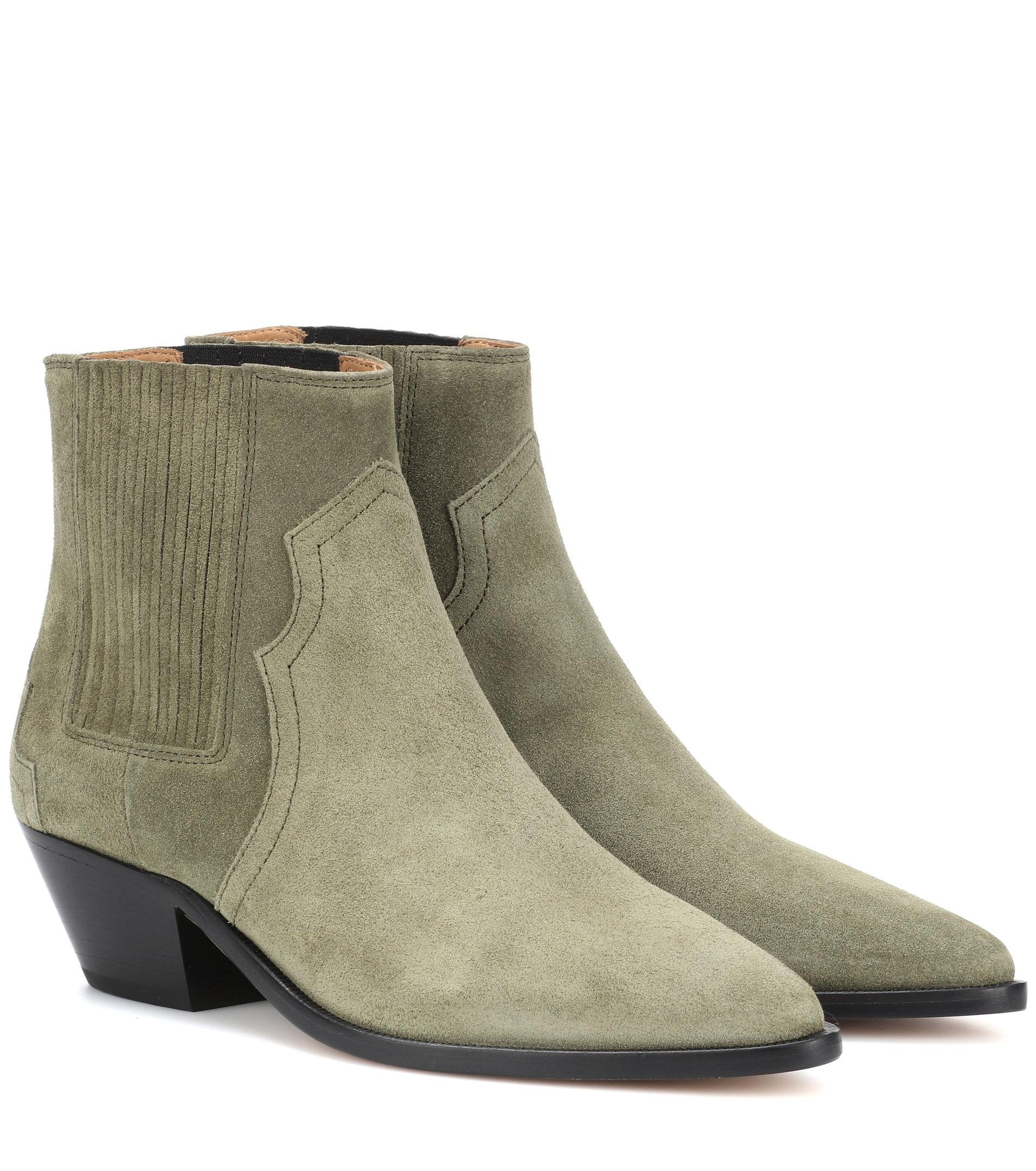 Isabel Marant Derst suede ankle boots LG4gWzye5