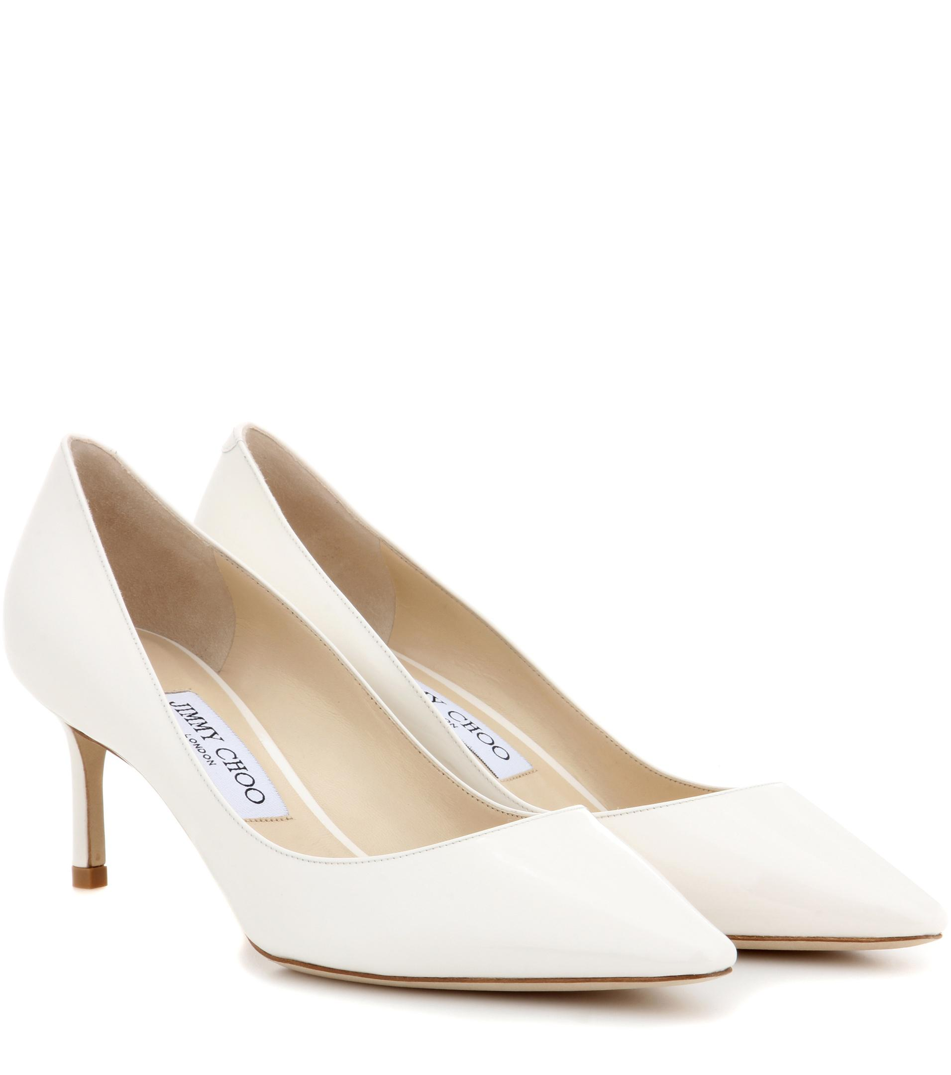 Romy 100 Glittered Leather Pumps - Off-white Jimmy Choo London