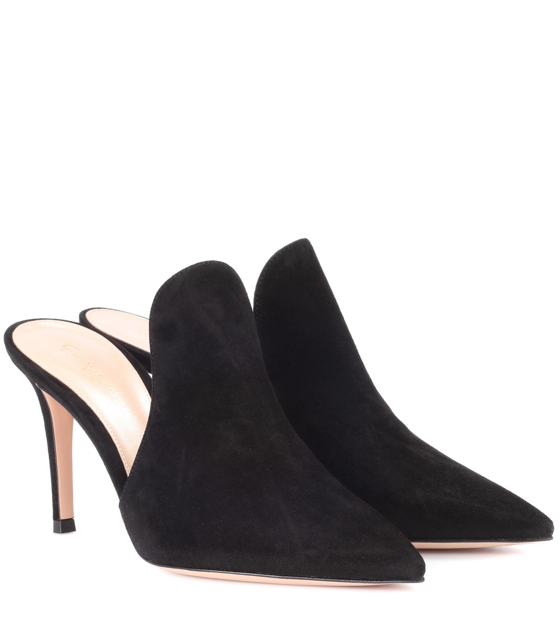 a8391899c48 Lyst - Gianvito Rossi Aramis 105 Black Suede Mules in Black - Save 65%