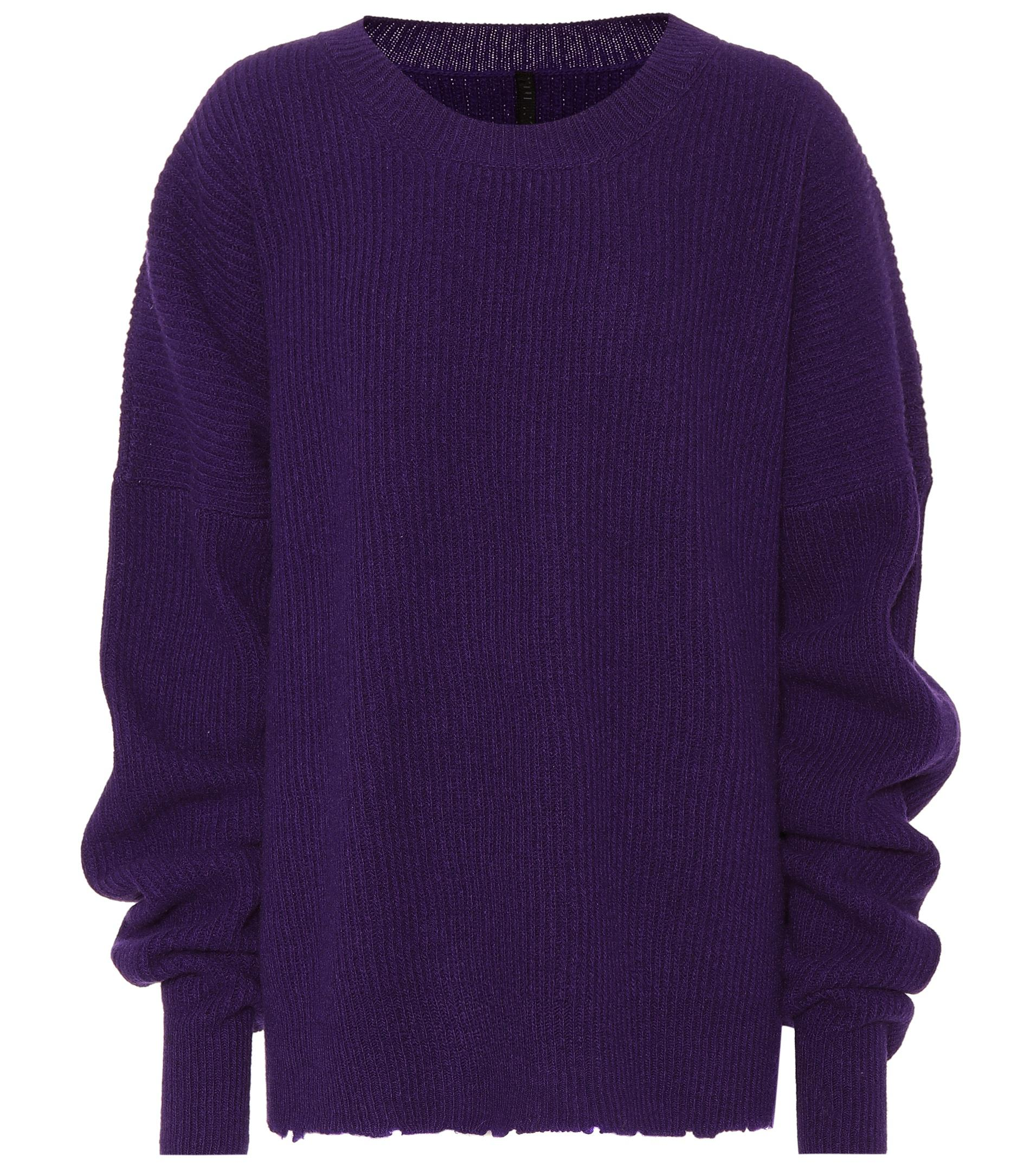 New Styles Ribbed wool and cashmere sweater Unravel With Mastercard SYssjvD