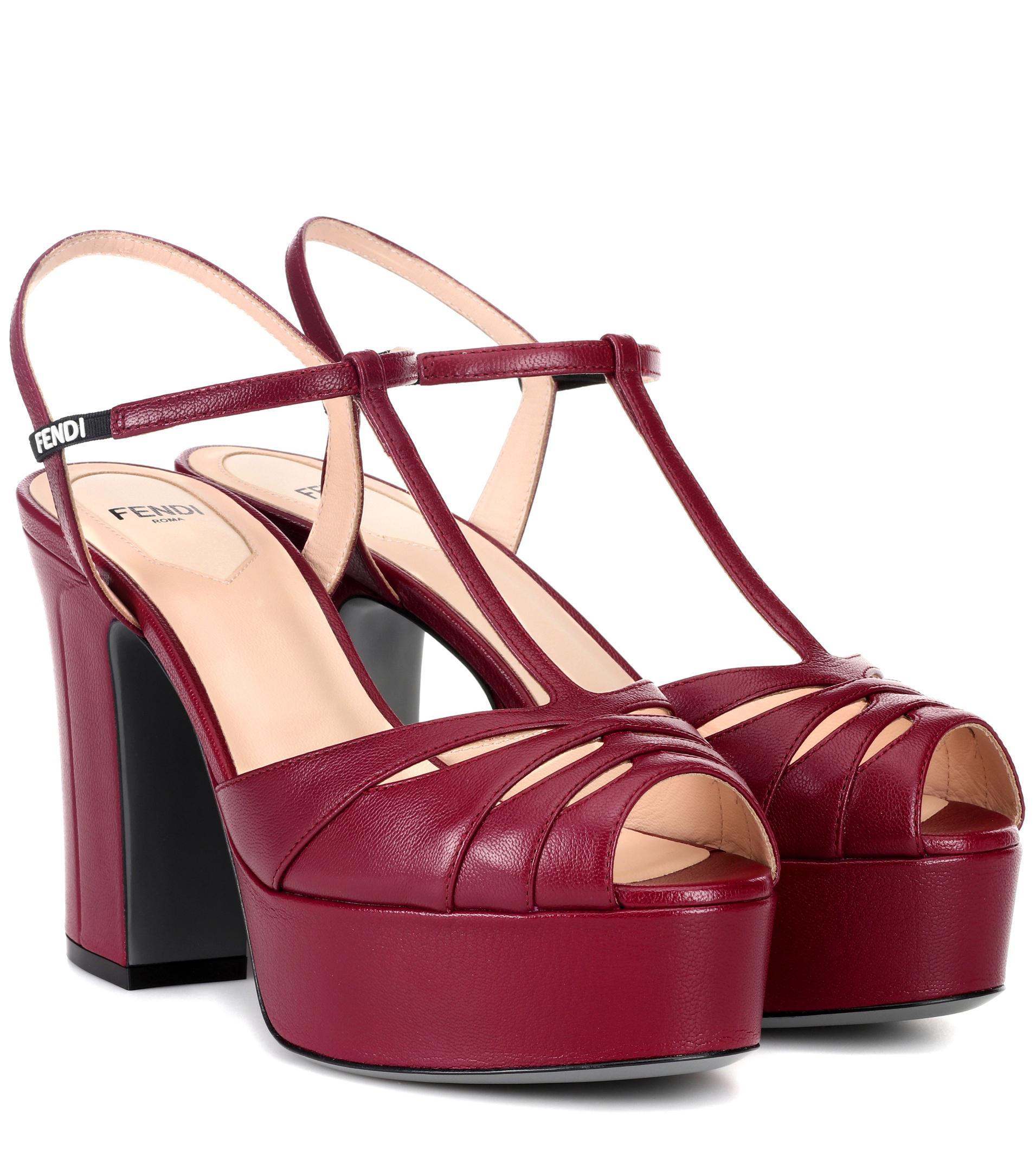 Leather plateau sandals AlexaChung BWRRoJytTc