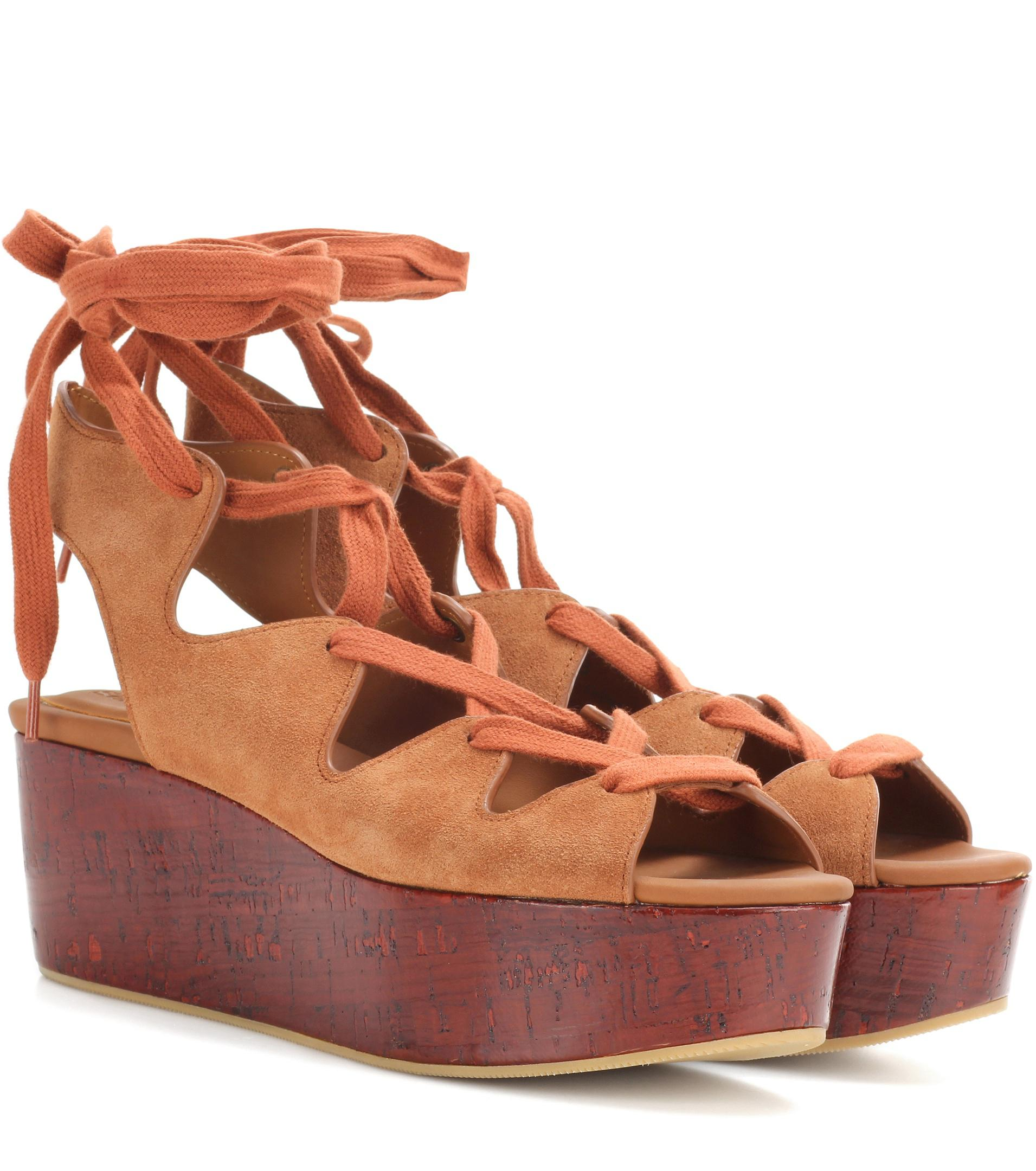 cheap price buy discount See By Chloé Eva leather plateau sandals outlet 2015 new tjMggl