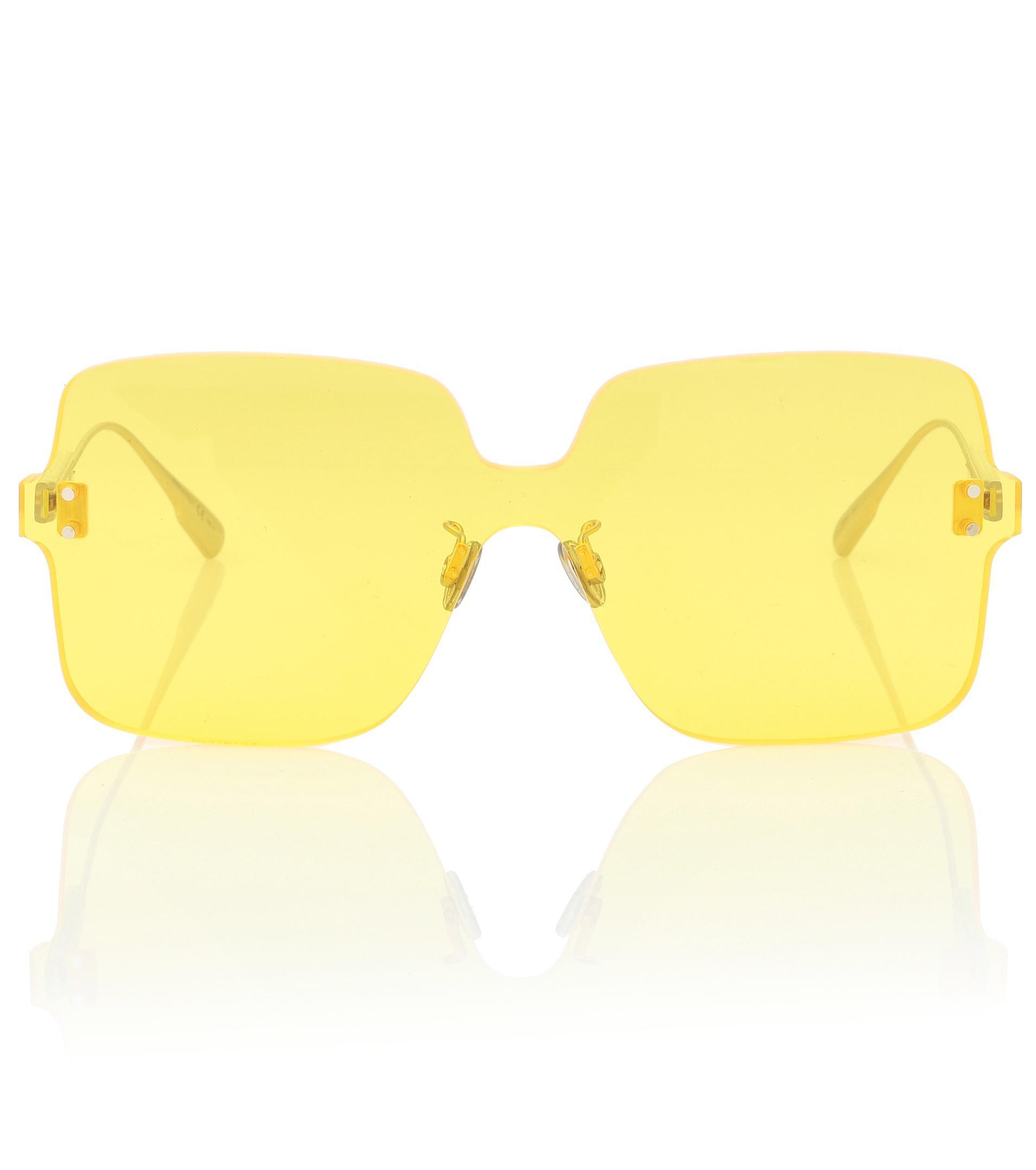 383ce0437f0f Dior Diorcolorquake1 Square Sunglasses in Yellow - Save 22% - Lyst
