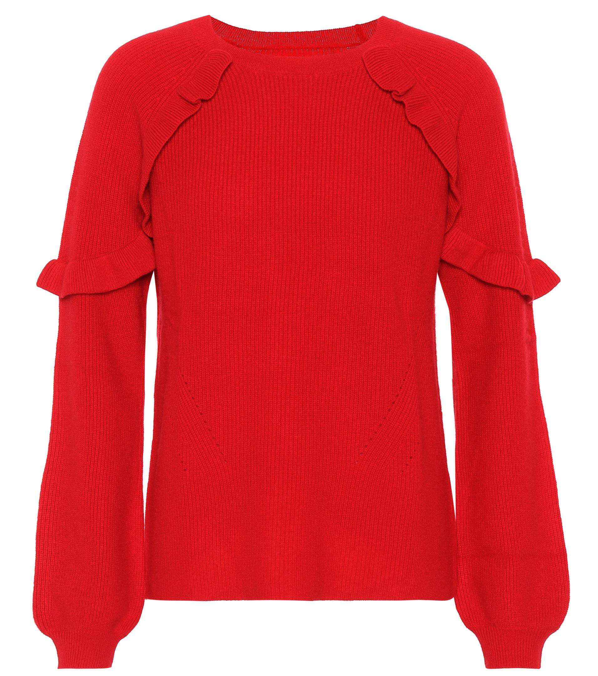 Velvet Dane Cashmere Sweater in Red | Lyst