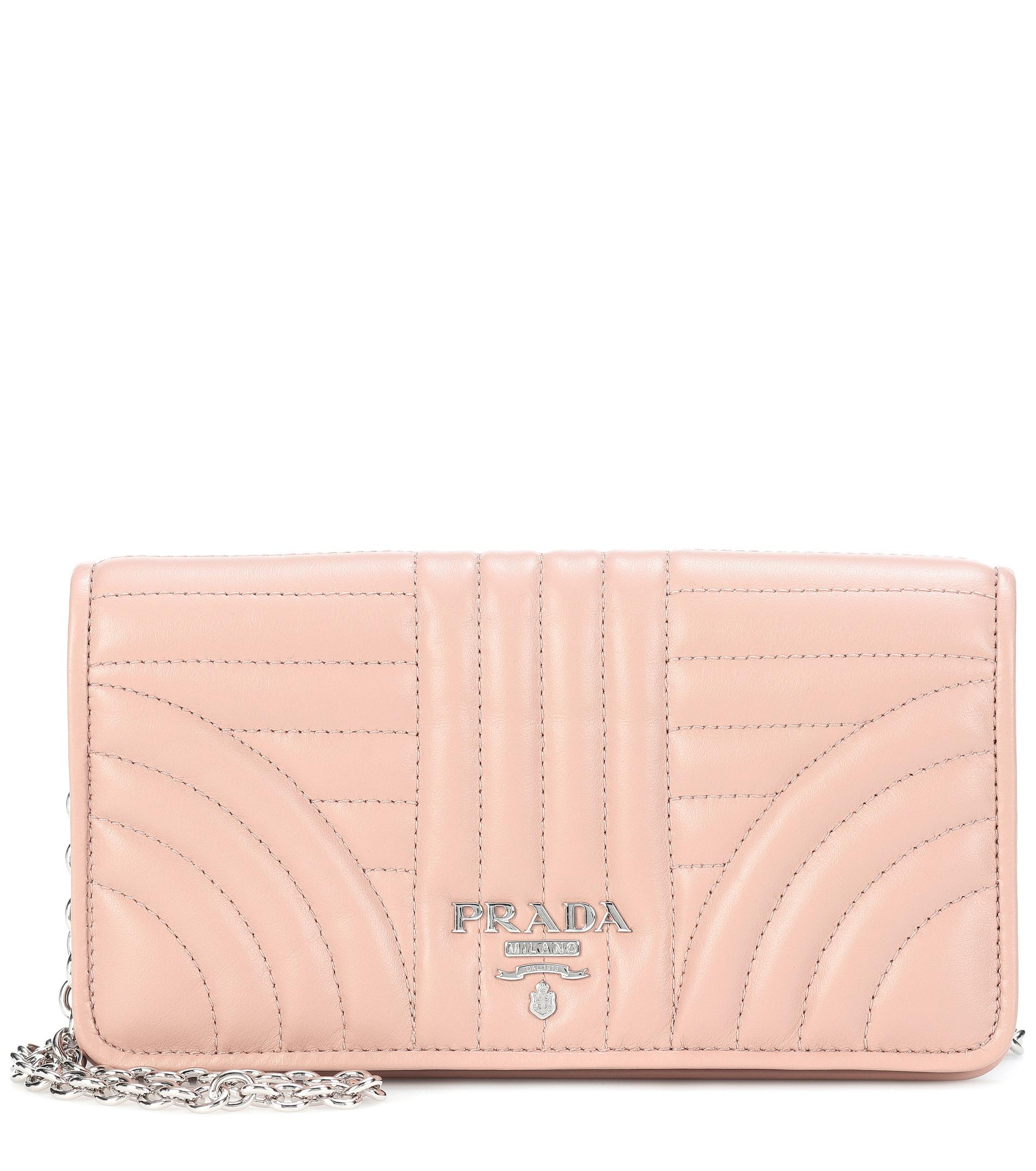 b44bcdadc423 Lyst - Prada Matelassé Leather Shoulder Bag in Pink