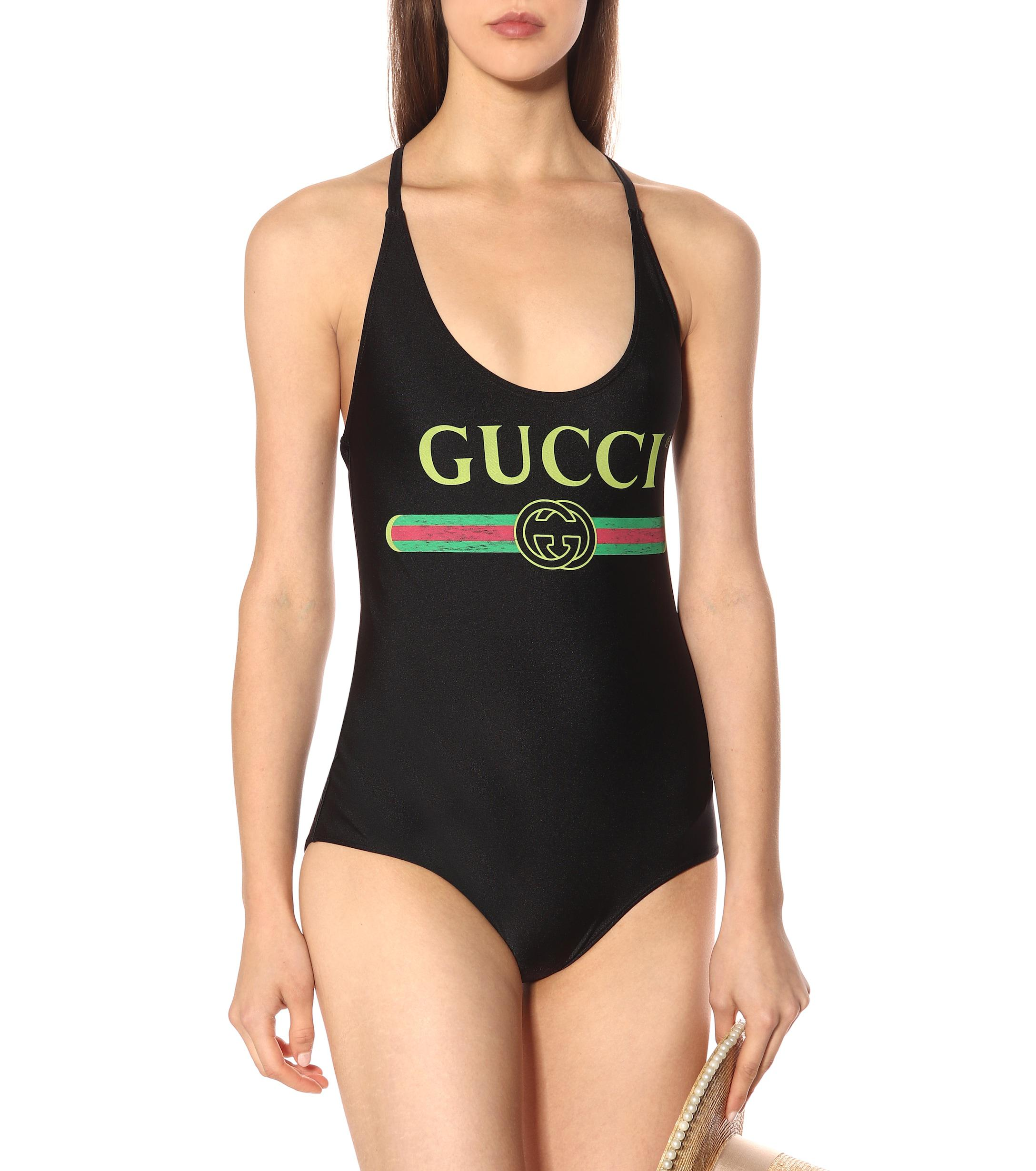 1d2808081e Gucci - Black Logo Swimsuit - Lyst. View fullscreen