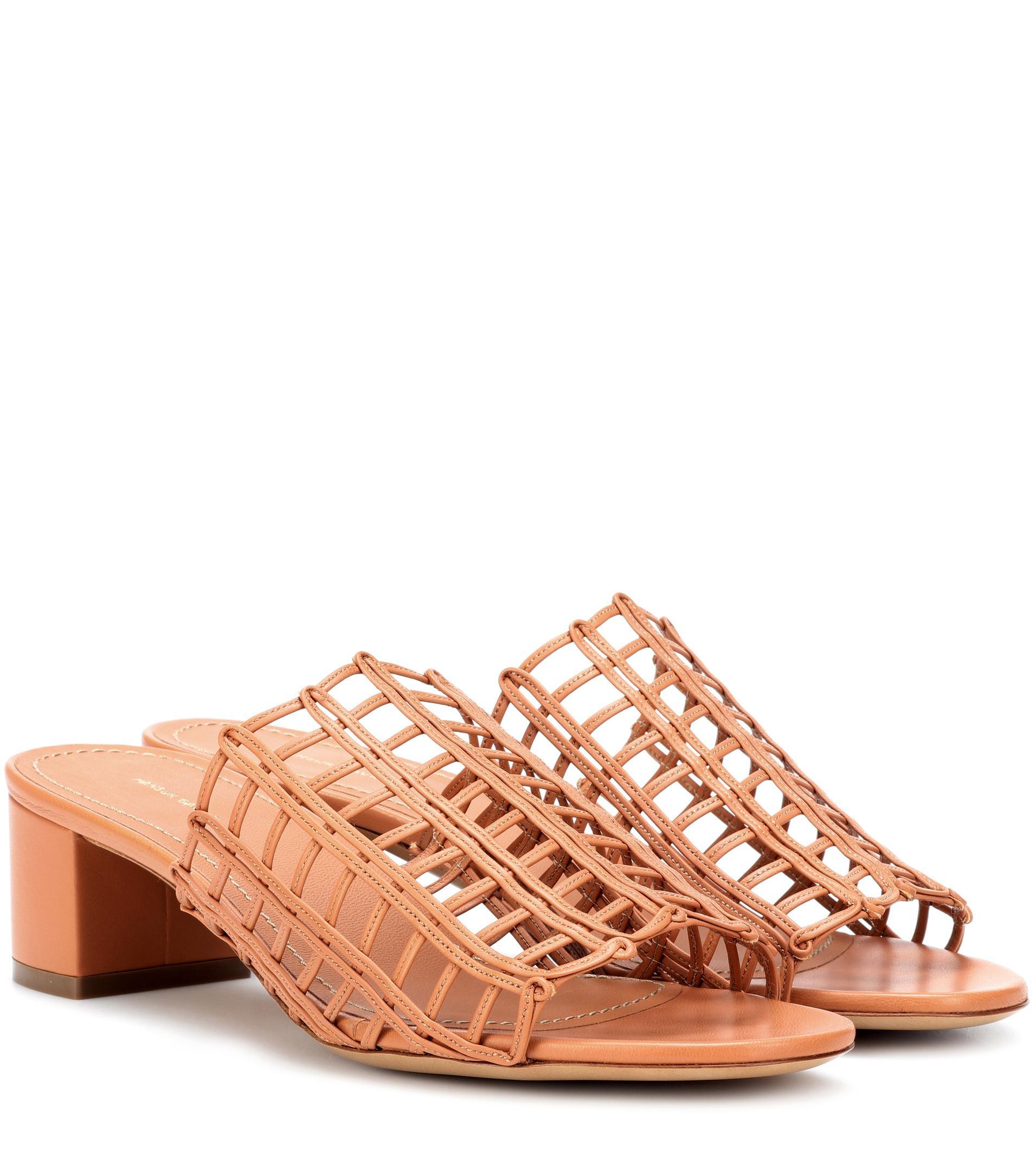 Mansur Gavriel Grid leather sandals k1ItYGJ1T