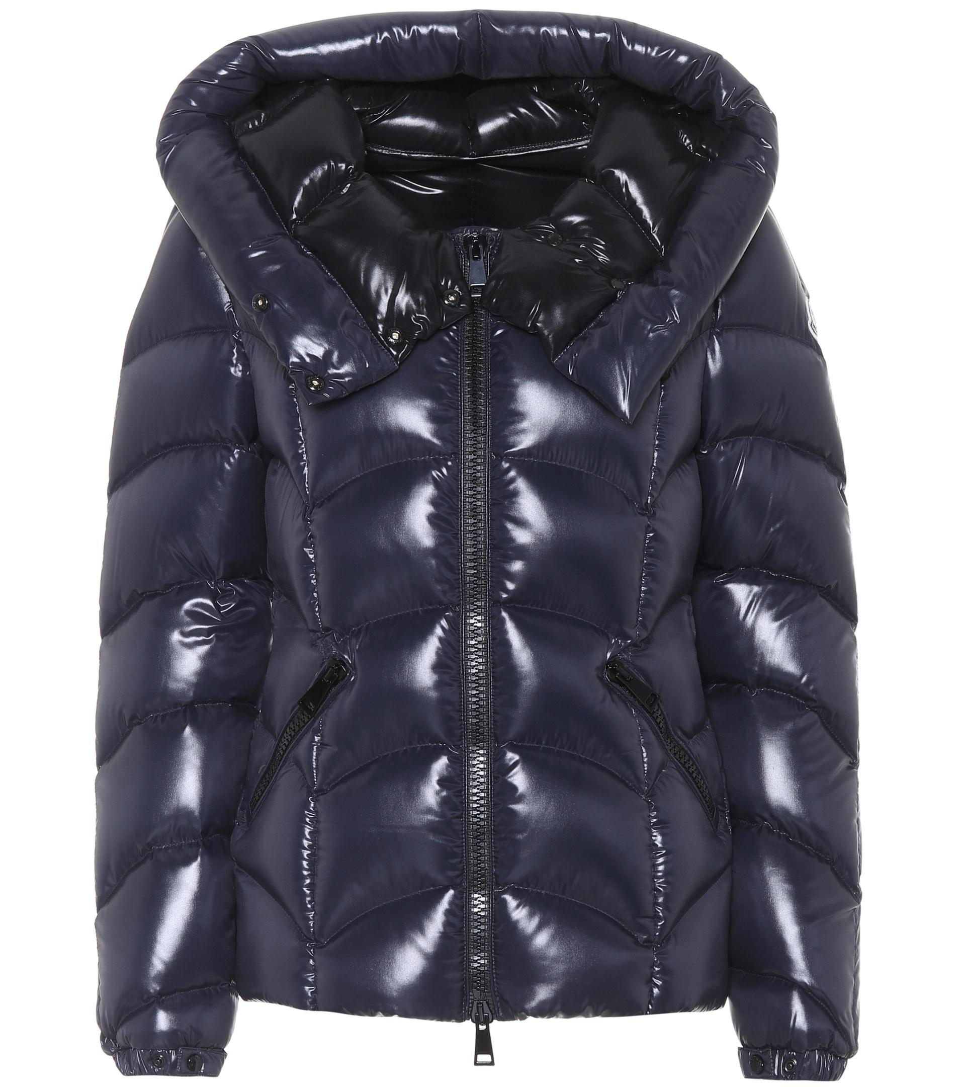 Moncler. Women's Blue Akebia Shiny Puffer Jacket