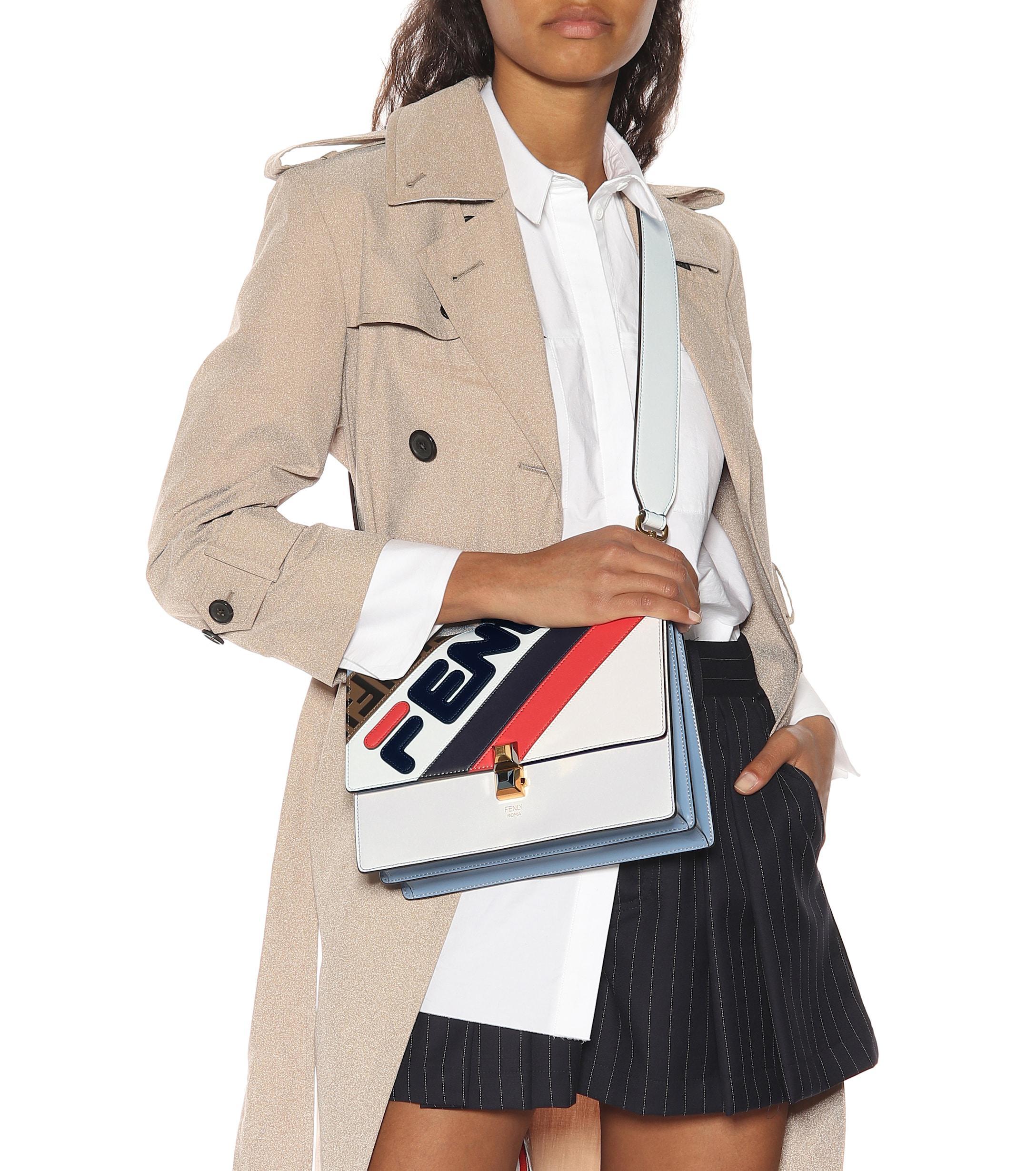 994af04cb43a Fendi - Multicolor Mania Kan I Leather Shoulder Bag - Lyst. View fullscreen