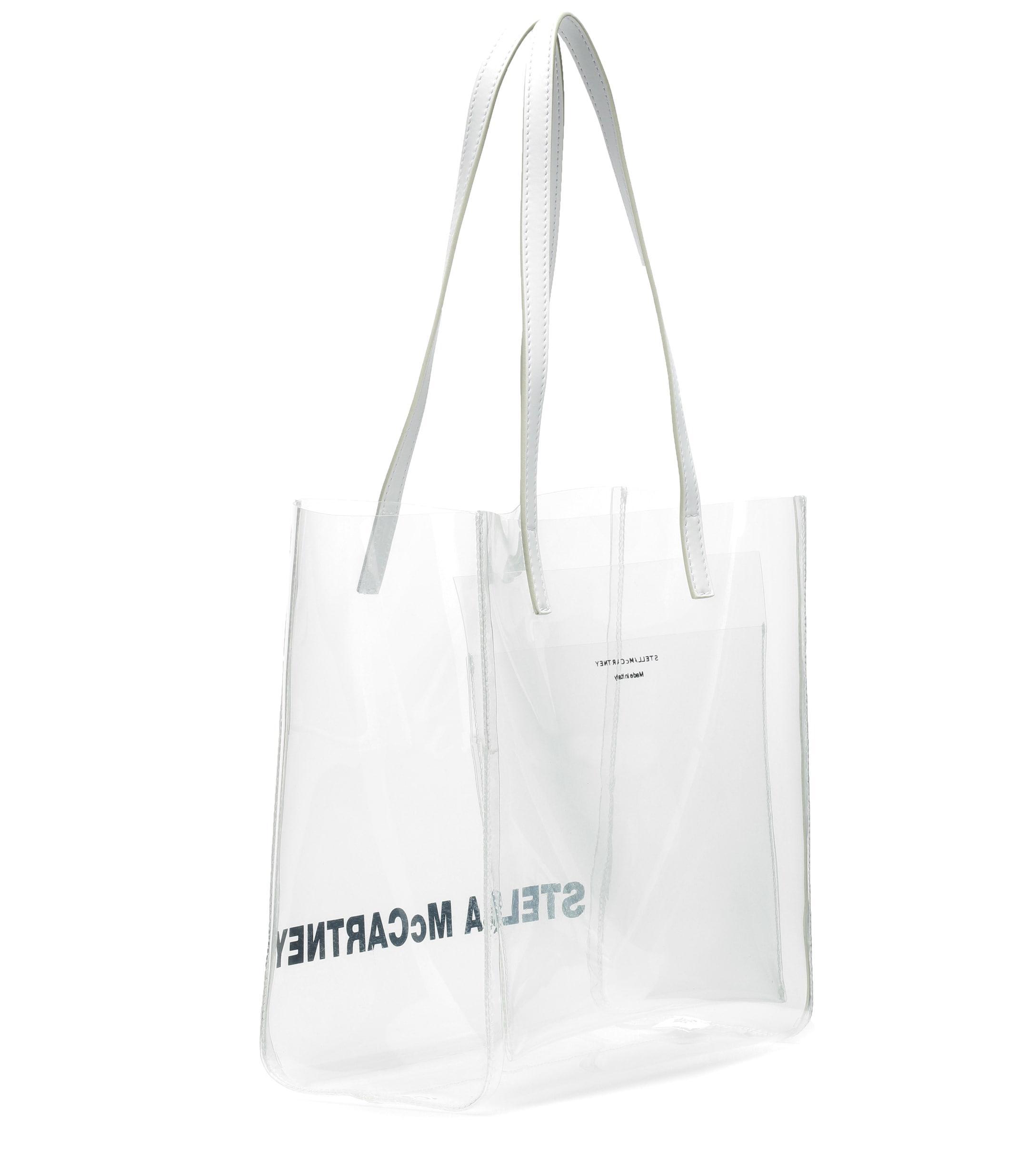 Lyst - Stella Mccartney Logo Medium Pvc Shopper in White 697ac0eb0dc62