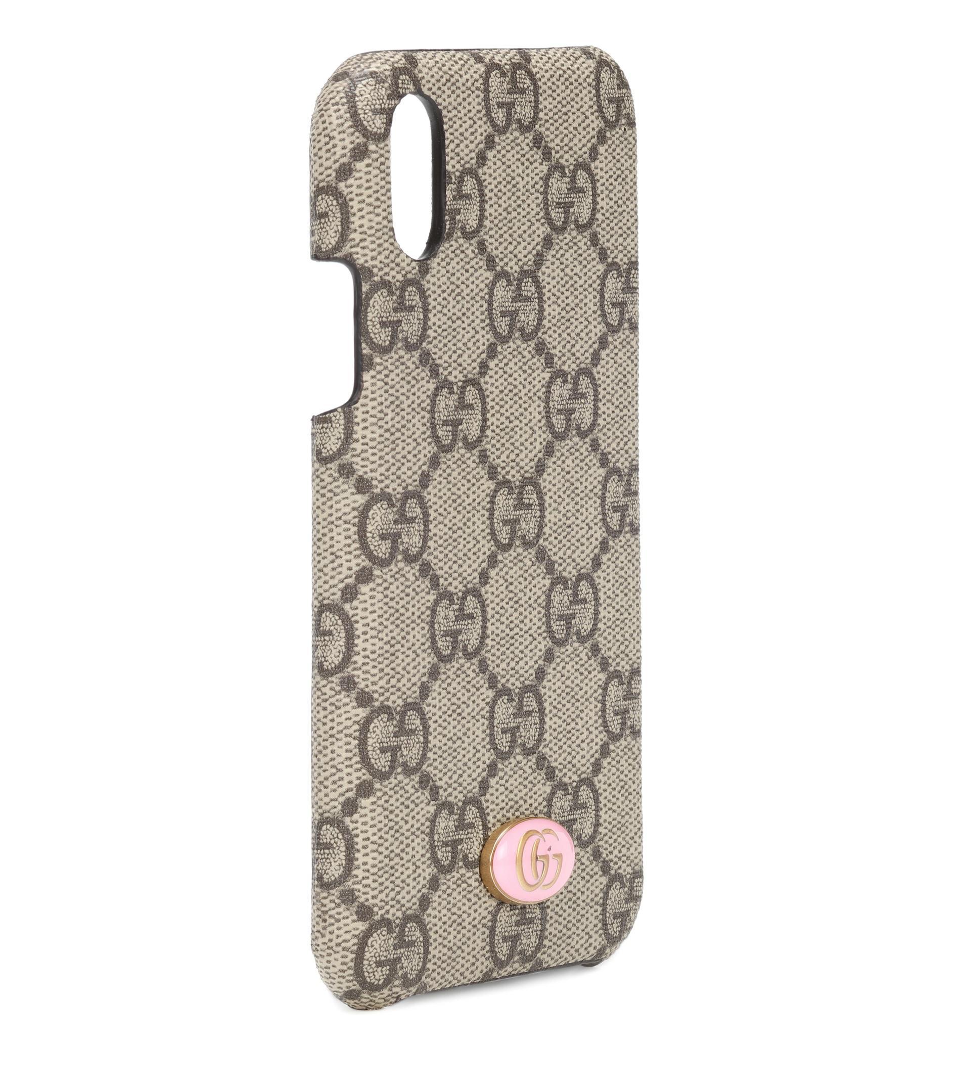 fc953f98ca Gucci Gg Iphone X Case in Natural - Lyst