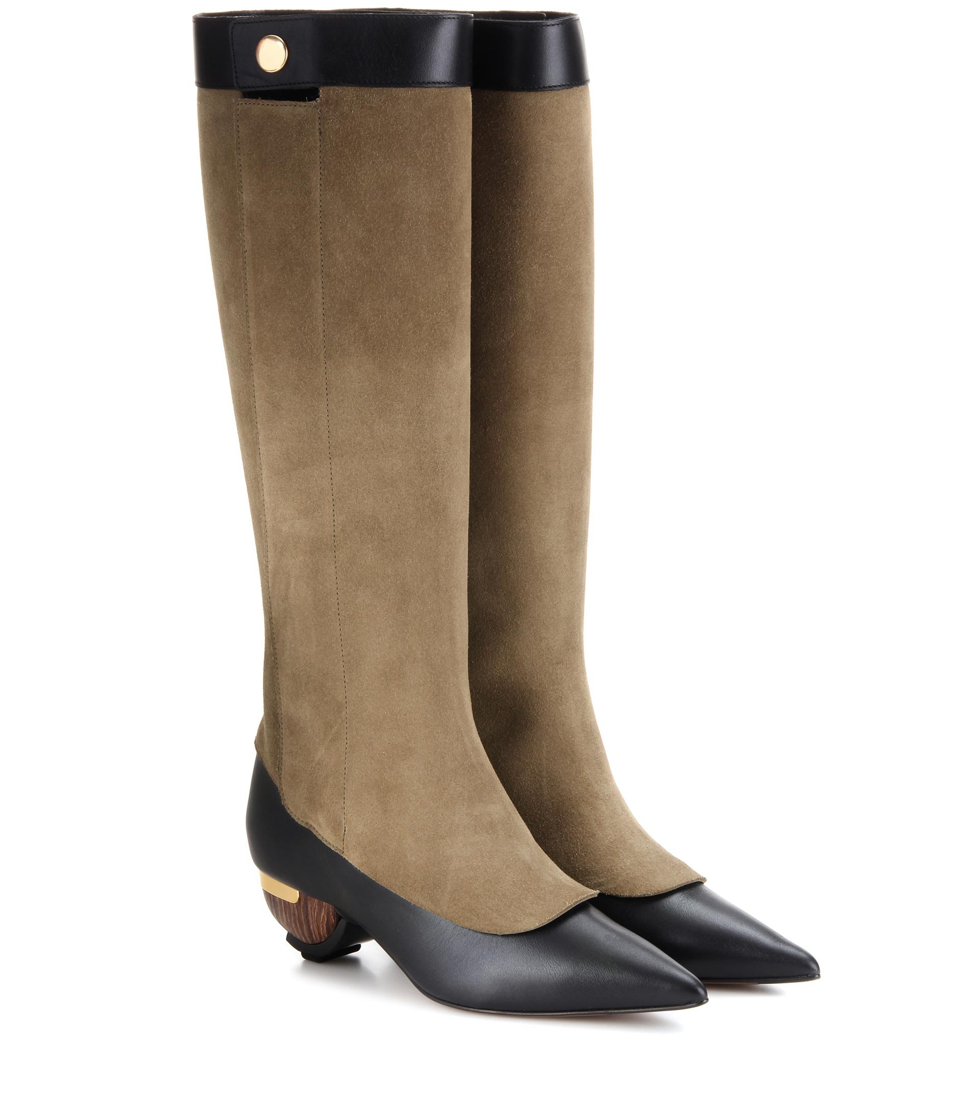 Marni Leather Knee-High Boots free shipping top quality discount visit new TYqXVpxxrN
