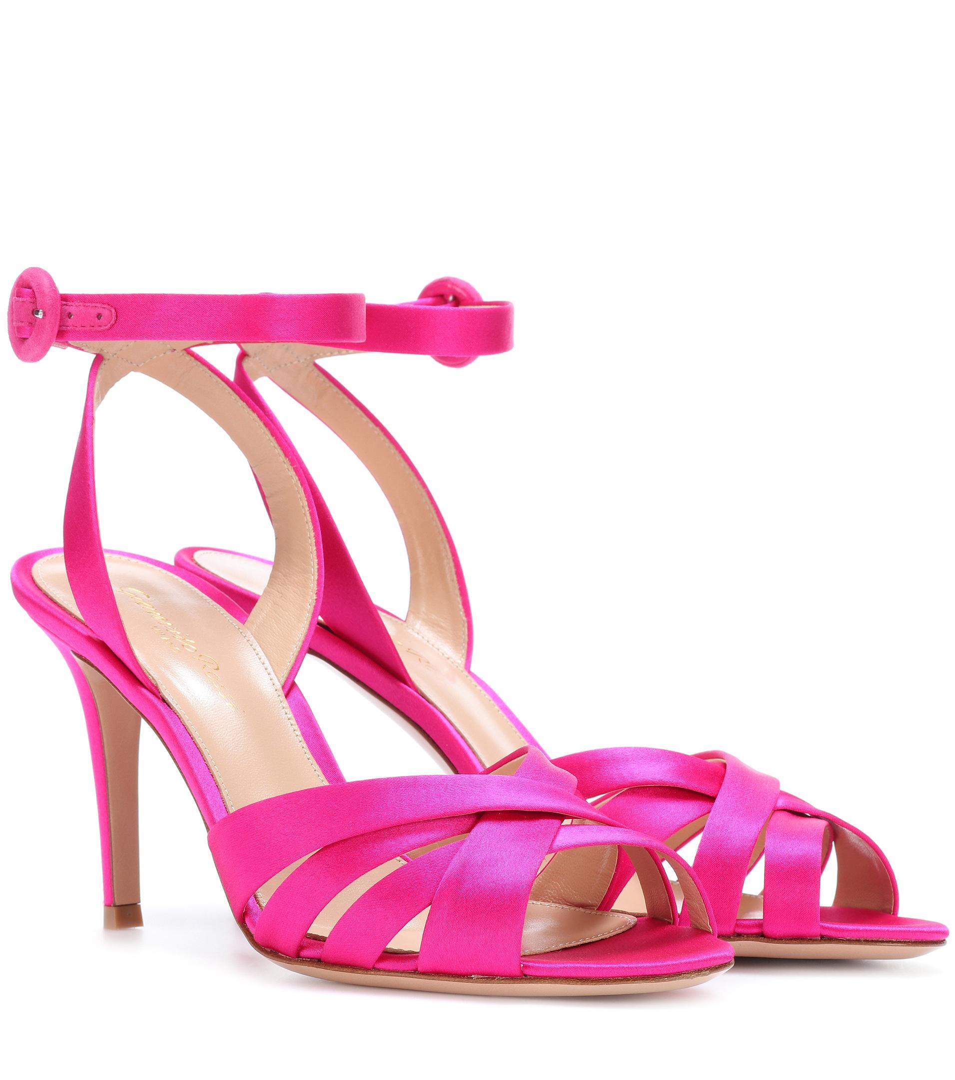 Exclusive to mytheresa.com - satin sandals Gianvito Rossi kIcNFTK