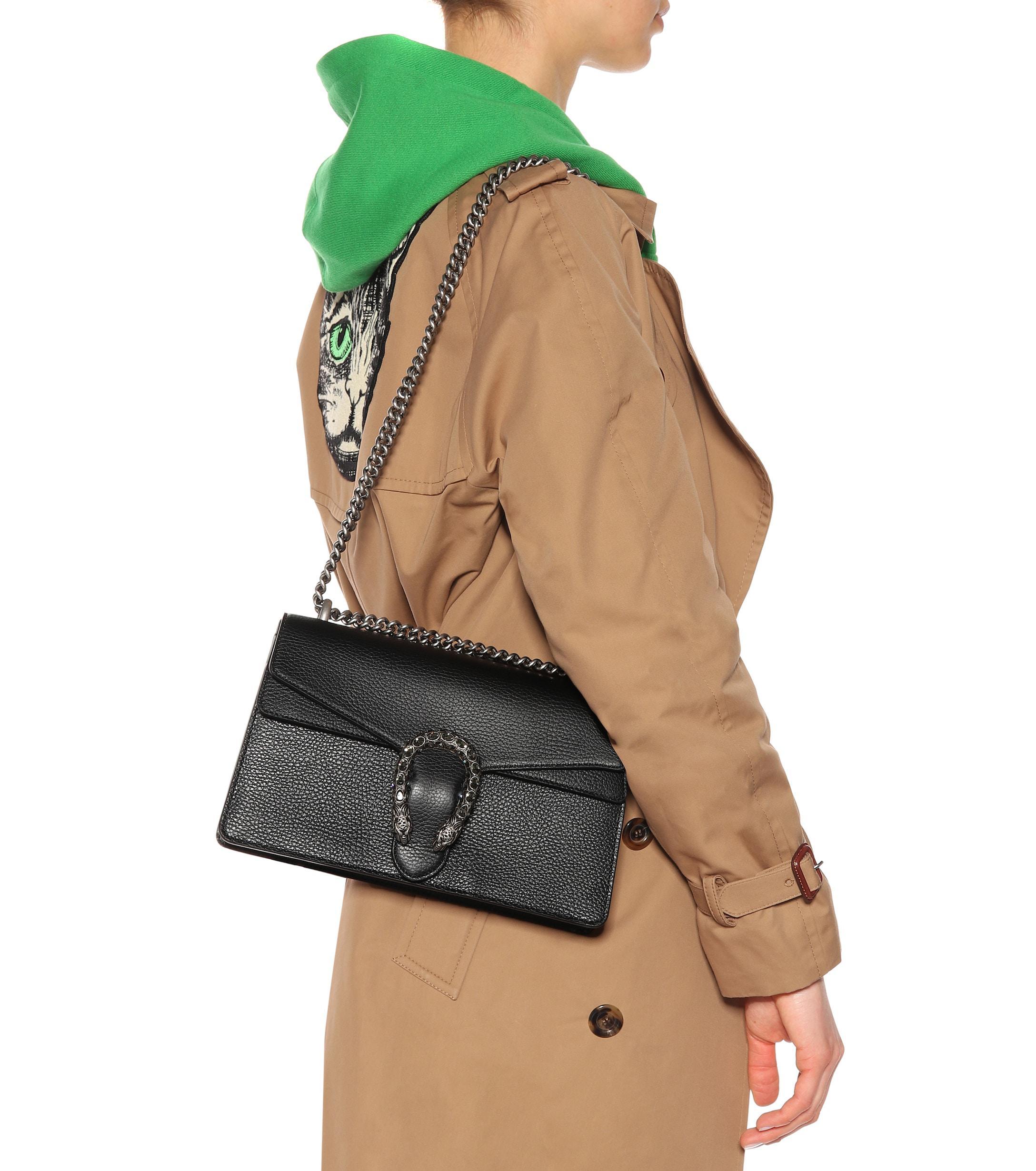 3a4cadc47 Gucci - Black Dionysus Small Leather Shoulder Bag - Lyst. View fullscreen