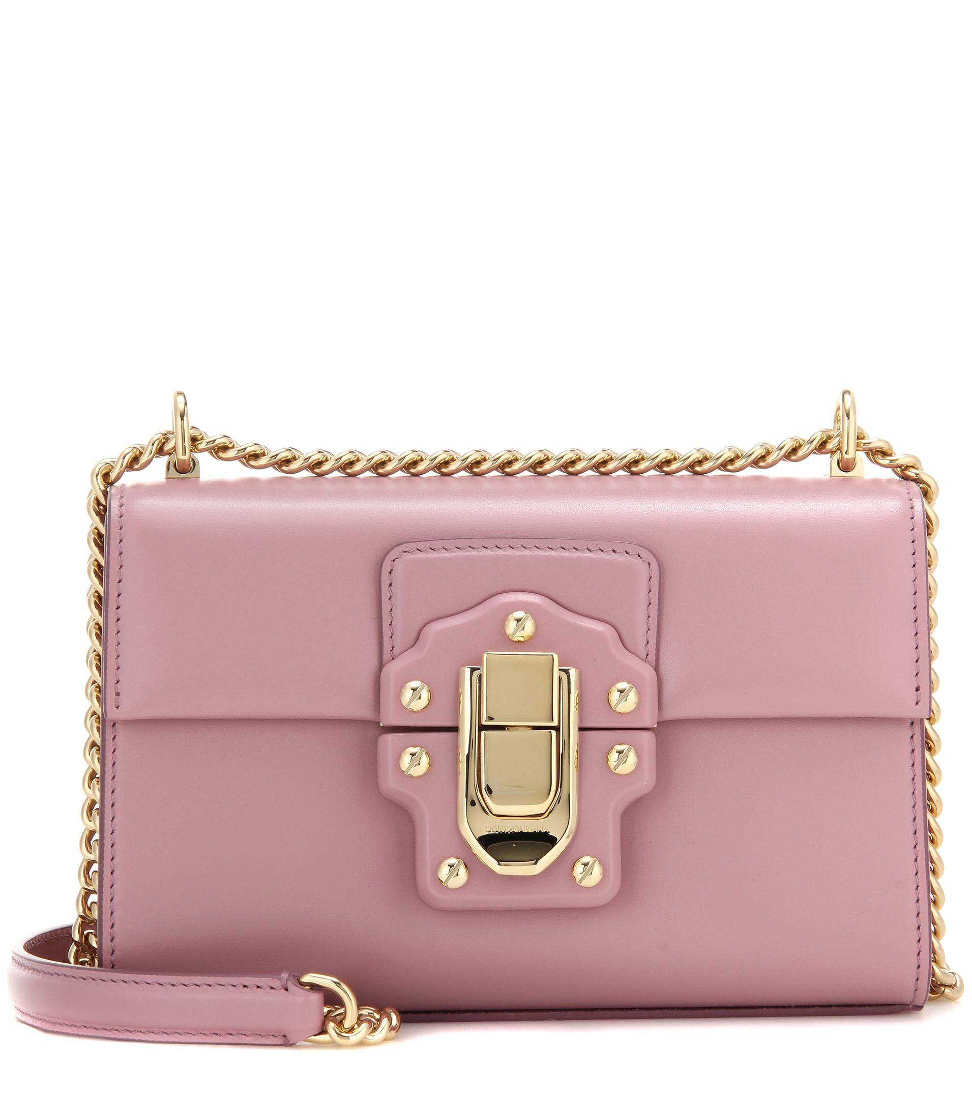 ba223f3f0cc1 Dolce   Gabbana Lucia Small Leather Shoulder Bag in Pink - Lyst