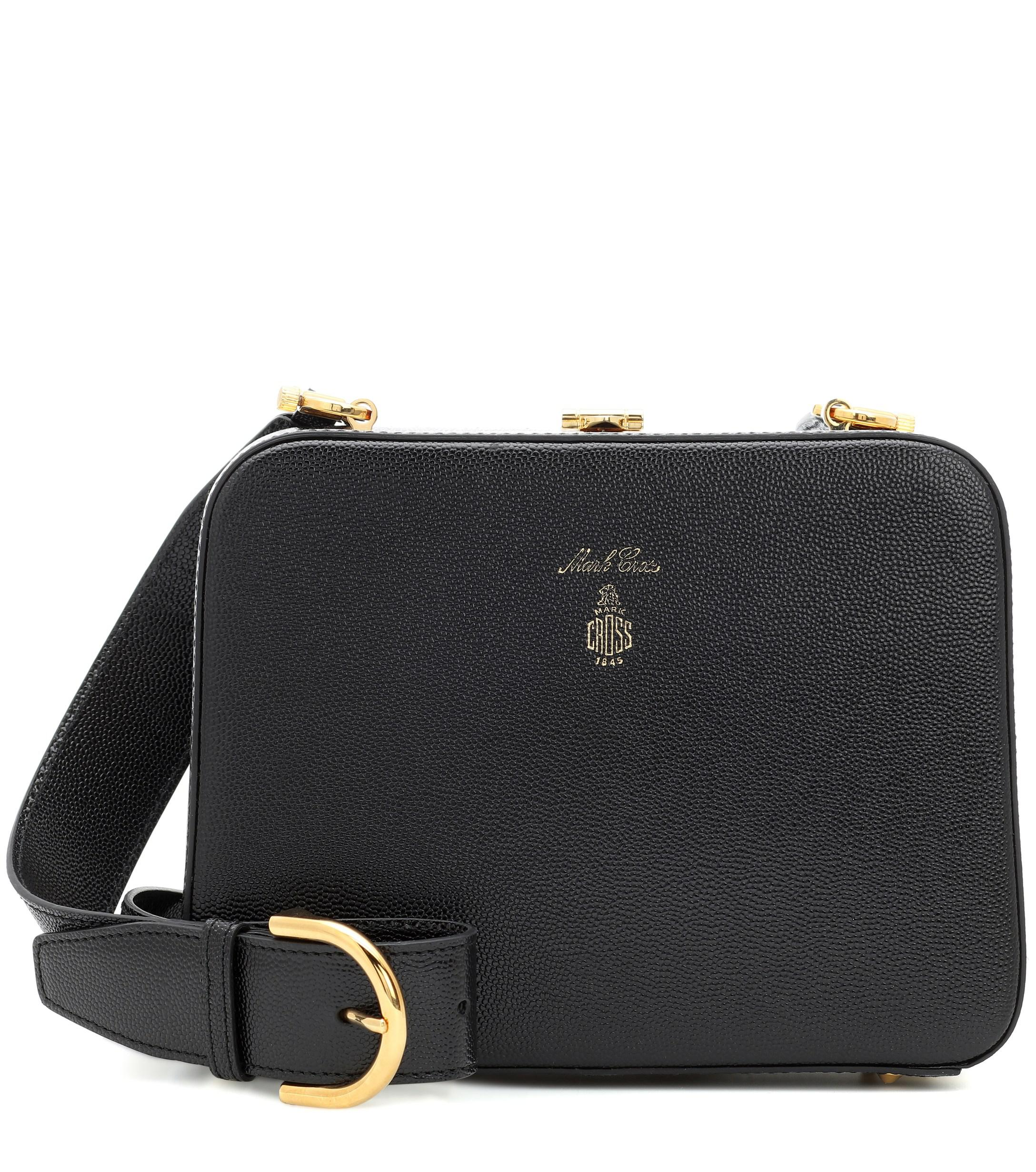 80ac71391454 Lyst - Mark Cross Juliana Frame Leather Crossbody Bag in Black