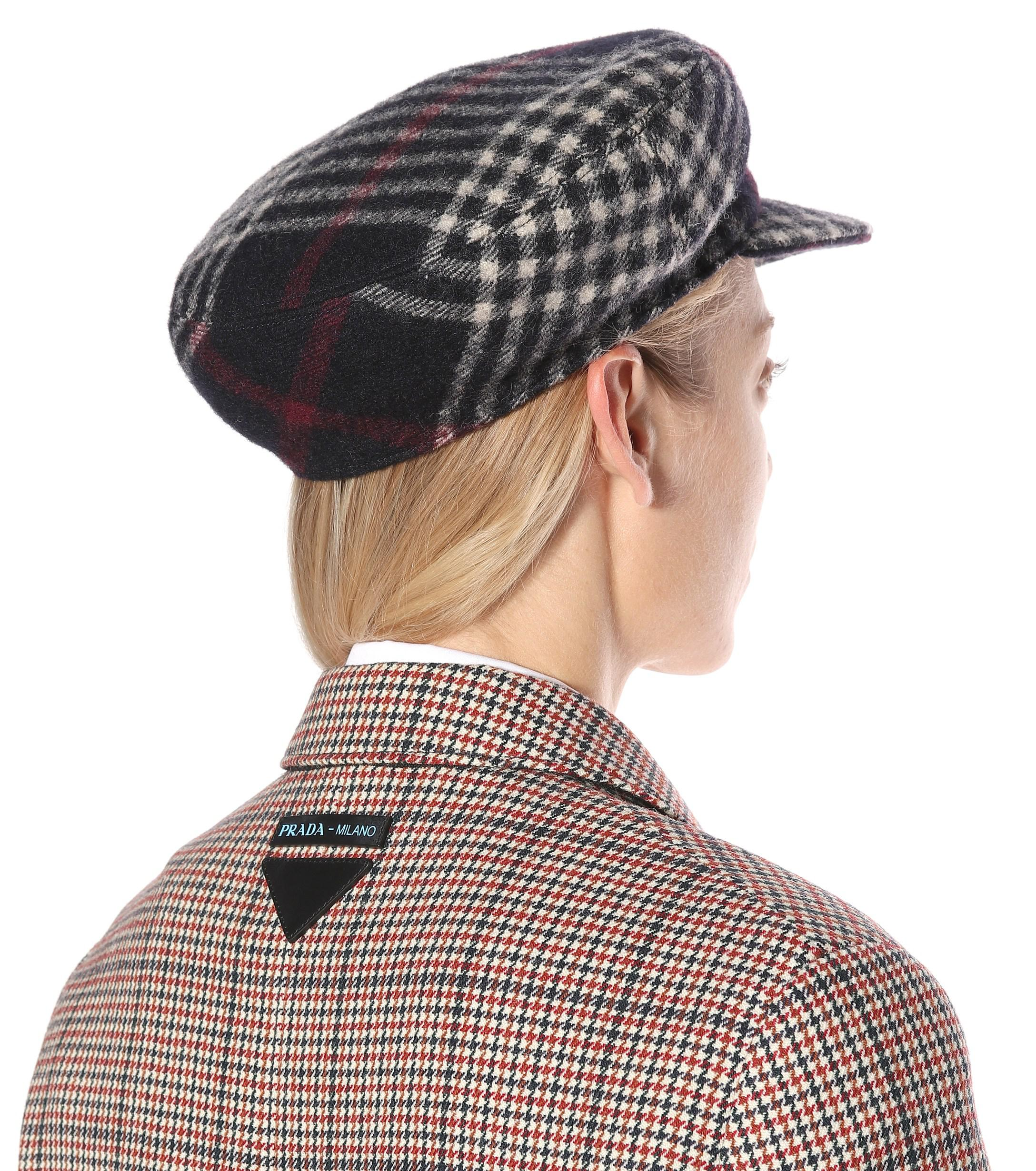 Isabel Marant - Black Naly Plaid Wool Hat - Lyst. View fullscreen 1f3a27e59e90