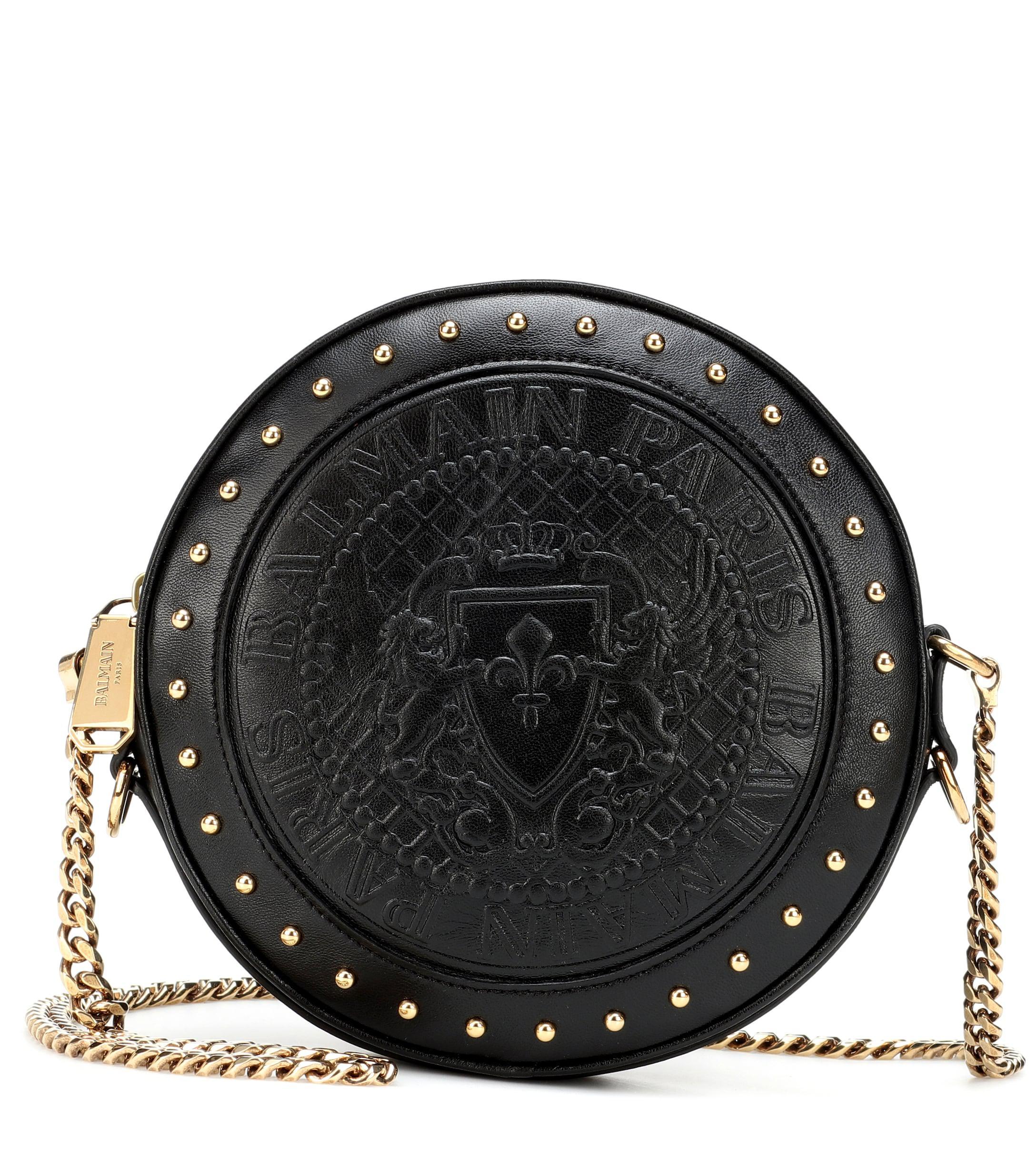 f741af12a32 Balmain - Black Renaissance Leather Crossbody Bag - Lyst. View fullscreen