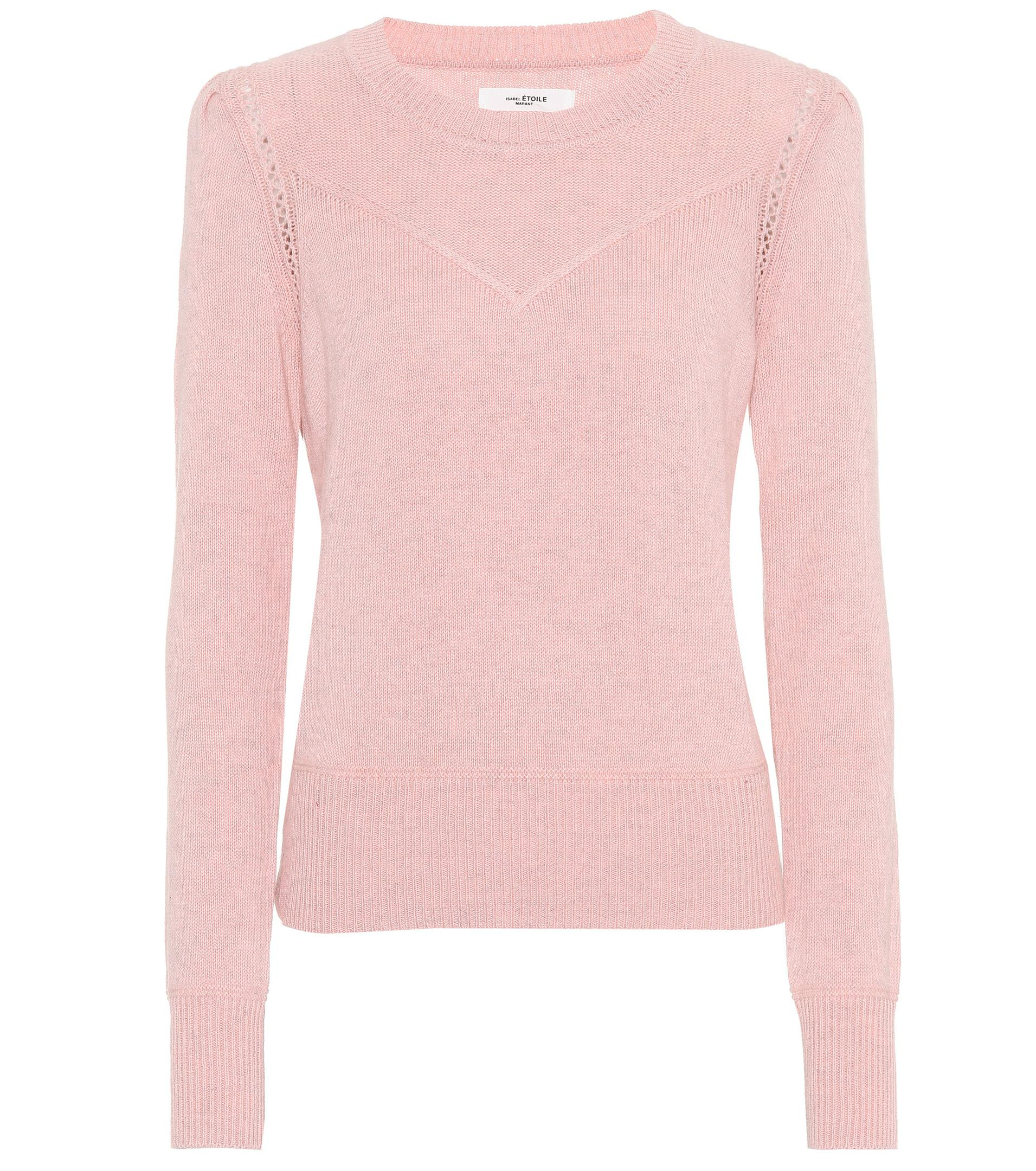 Étoile isabel marant Kios Cotton And Wool Sweater in Pink | Lyst