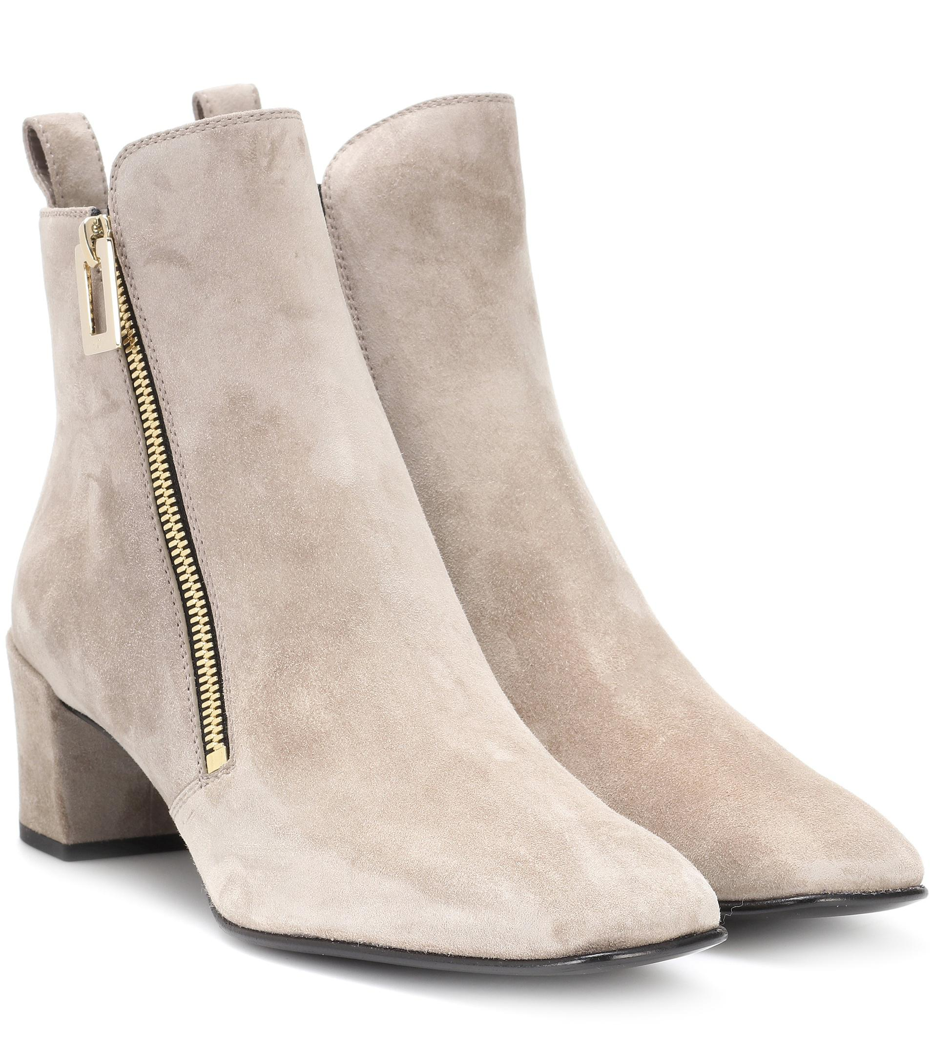 Roger Vivier Polly Zip suede ankle boots 12PYtloAjJ