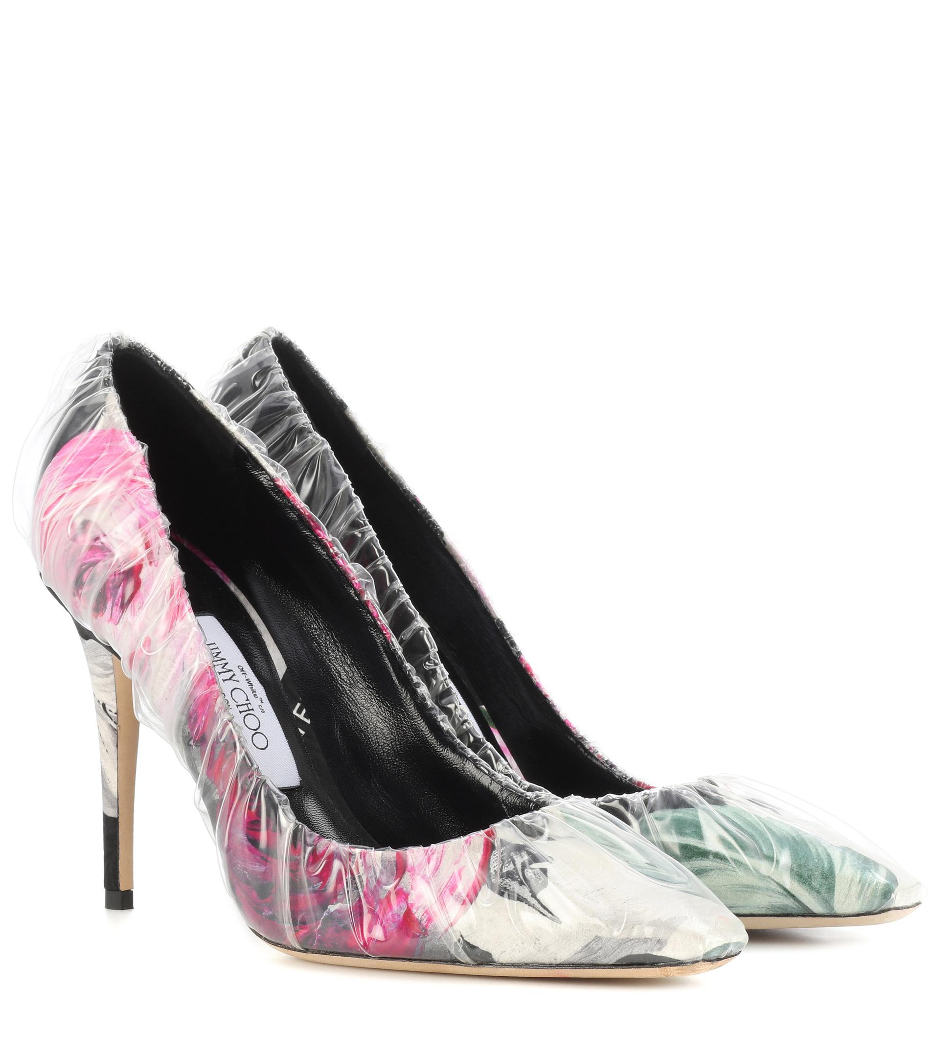 OFF-WHITE Multicolor Jimmy Choo Edition Floral Anne Heels PLmelB1R