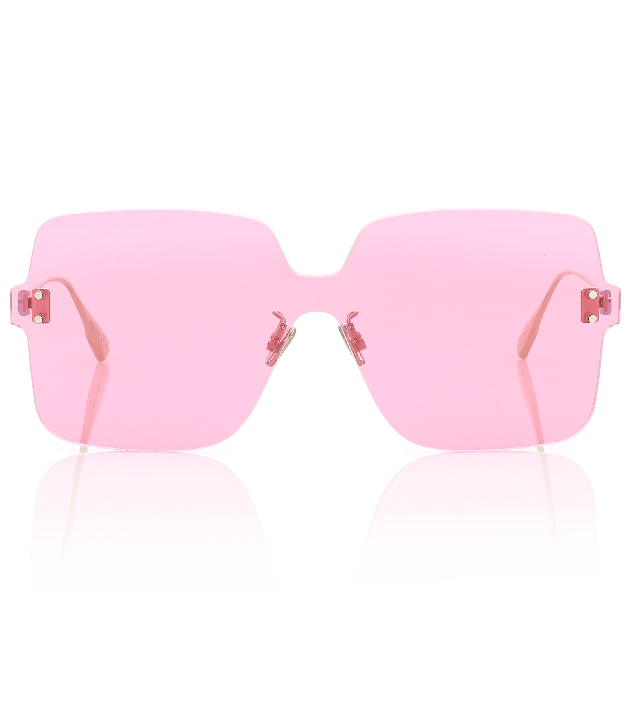 b1b9c820abeff Dior Diorcolorquake1 Square Sunglasses in Pink - Save 5% - Lyst