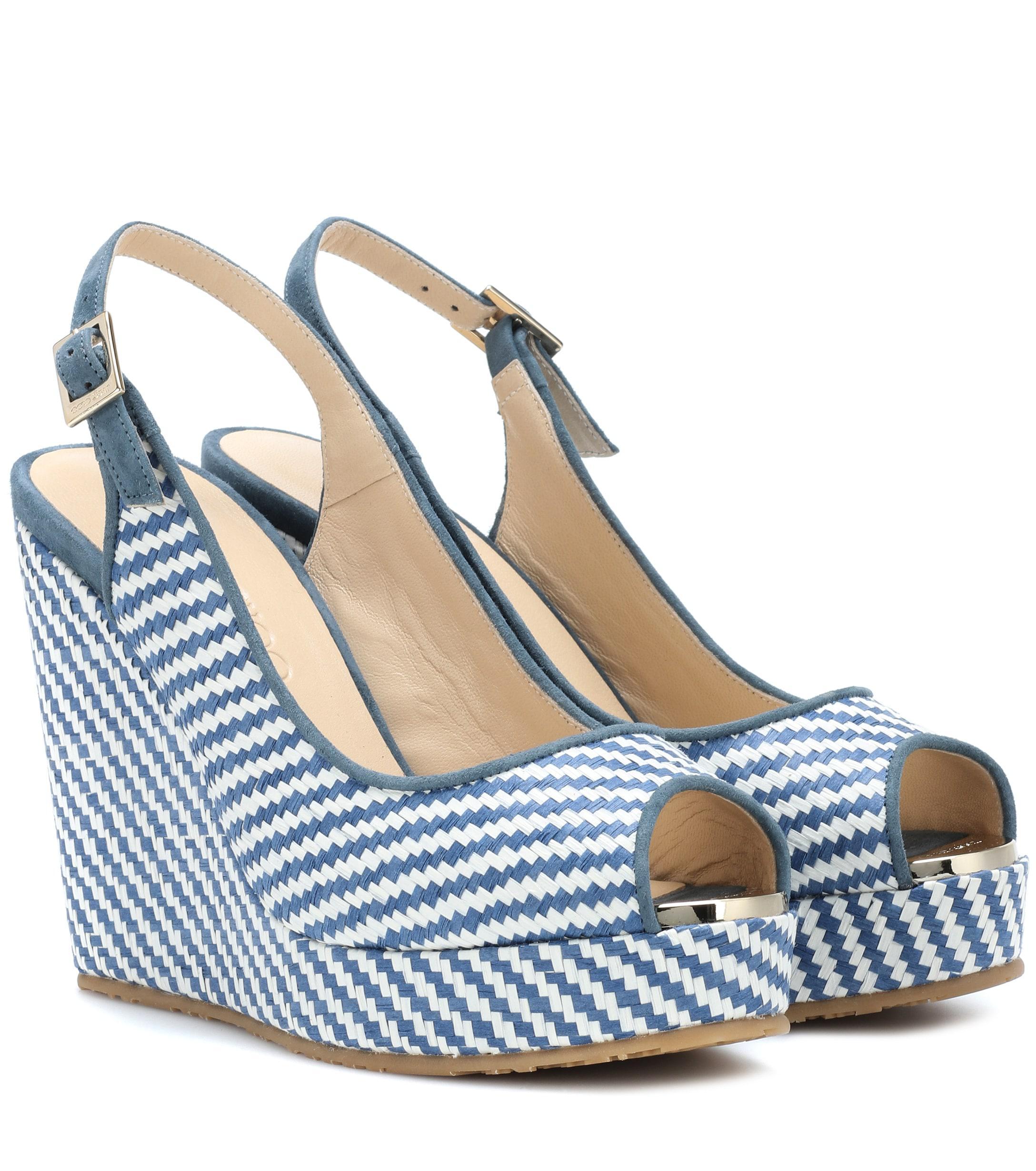 e2ffd05ce092 Lyst - Jimmy Choo Prova Wedge Sandals in Blue