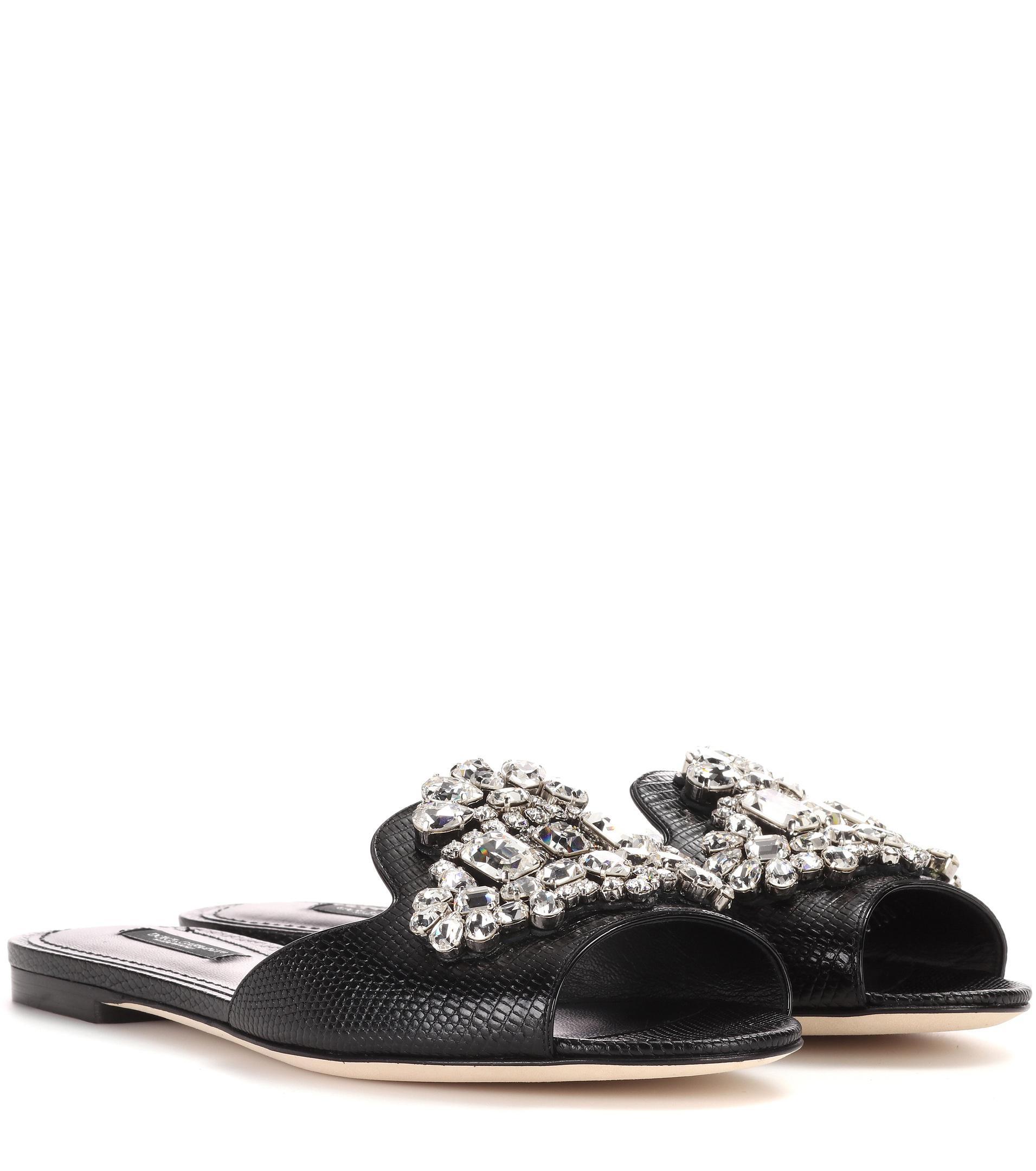 Dolce & Gabbana Embellished slides QqaAQ
