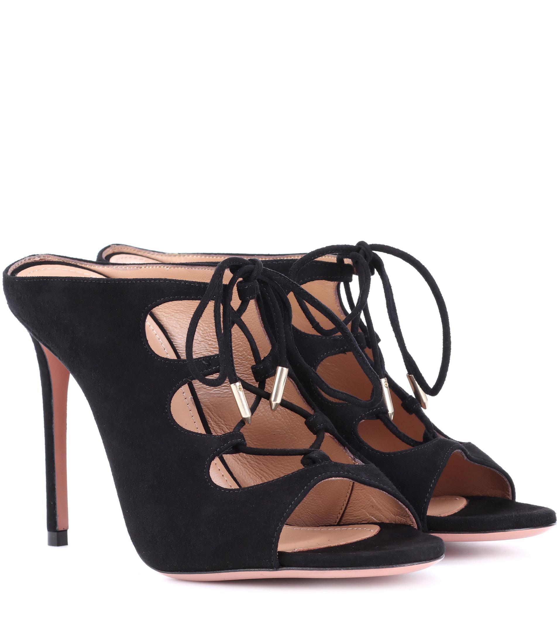 Cheap Pictures Deals Cheap Online Aquazzura Flirt leather sandals NVSDpzs
