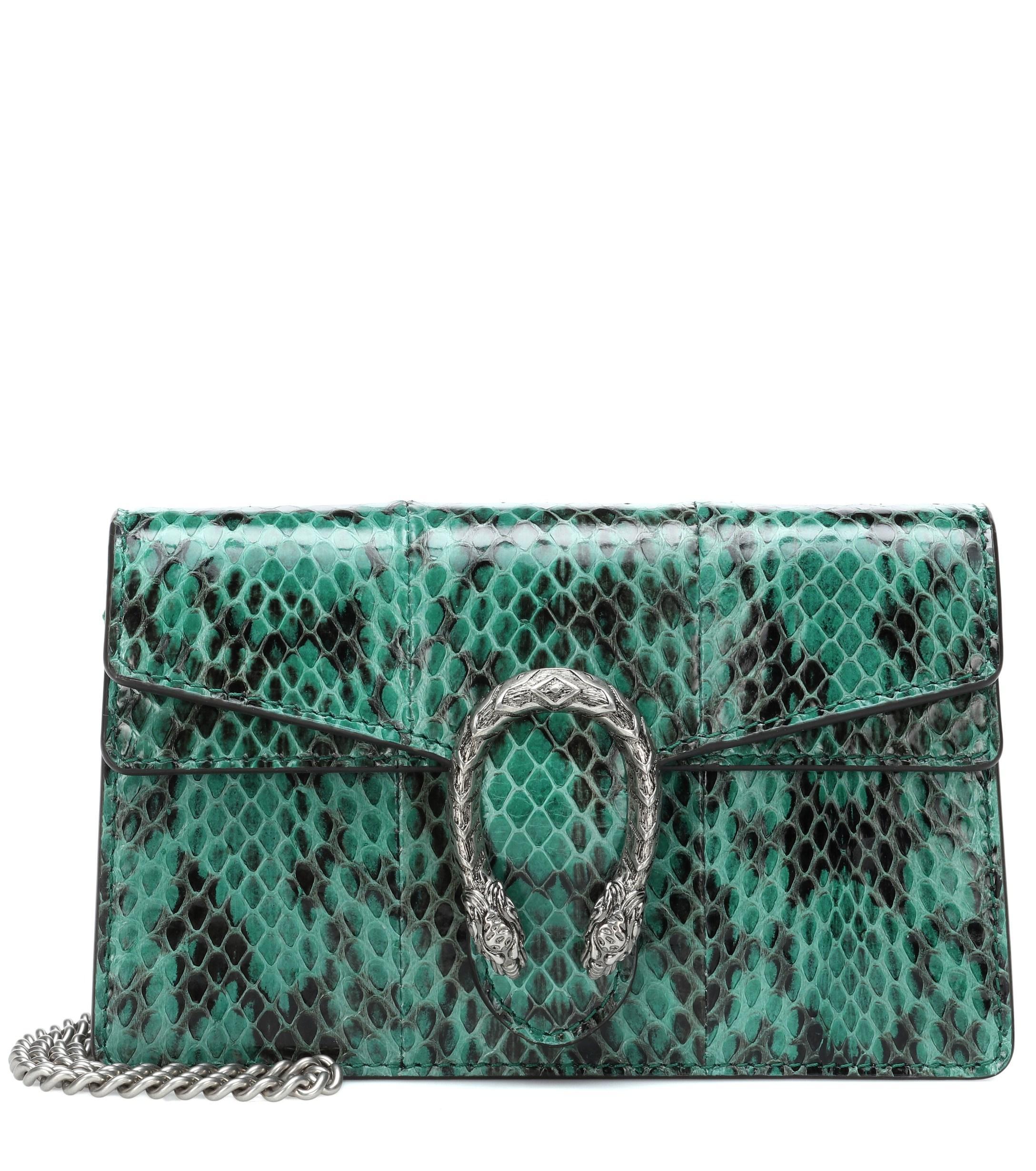 13ee4b600de1 Gucci Dionysus Super Mini Crossbody Bag in Green - Lyst