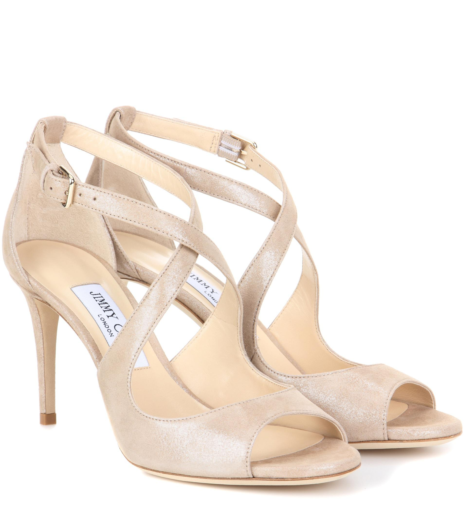 Jimmy choo Emily 65 suede sandals