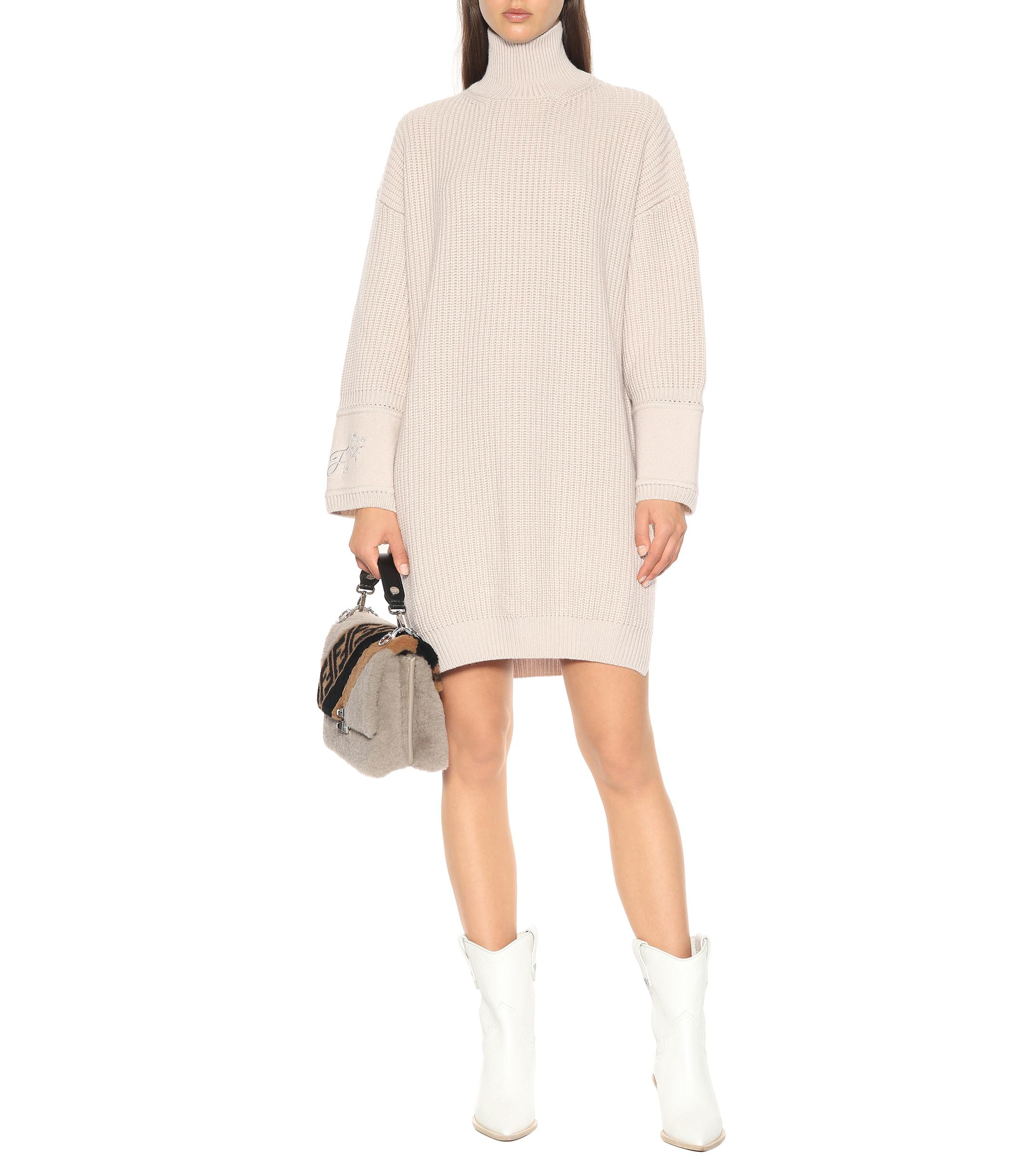 5400961aaa9 Fendi - Multicolor Cashmere Sweater-dress - Lyst. View fullscreen