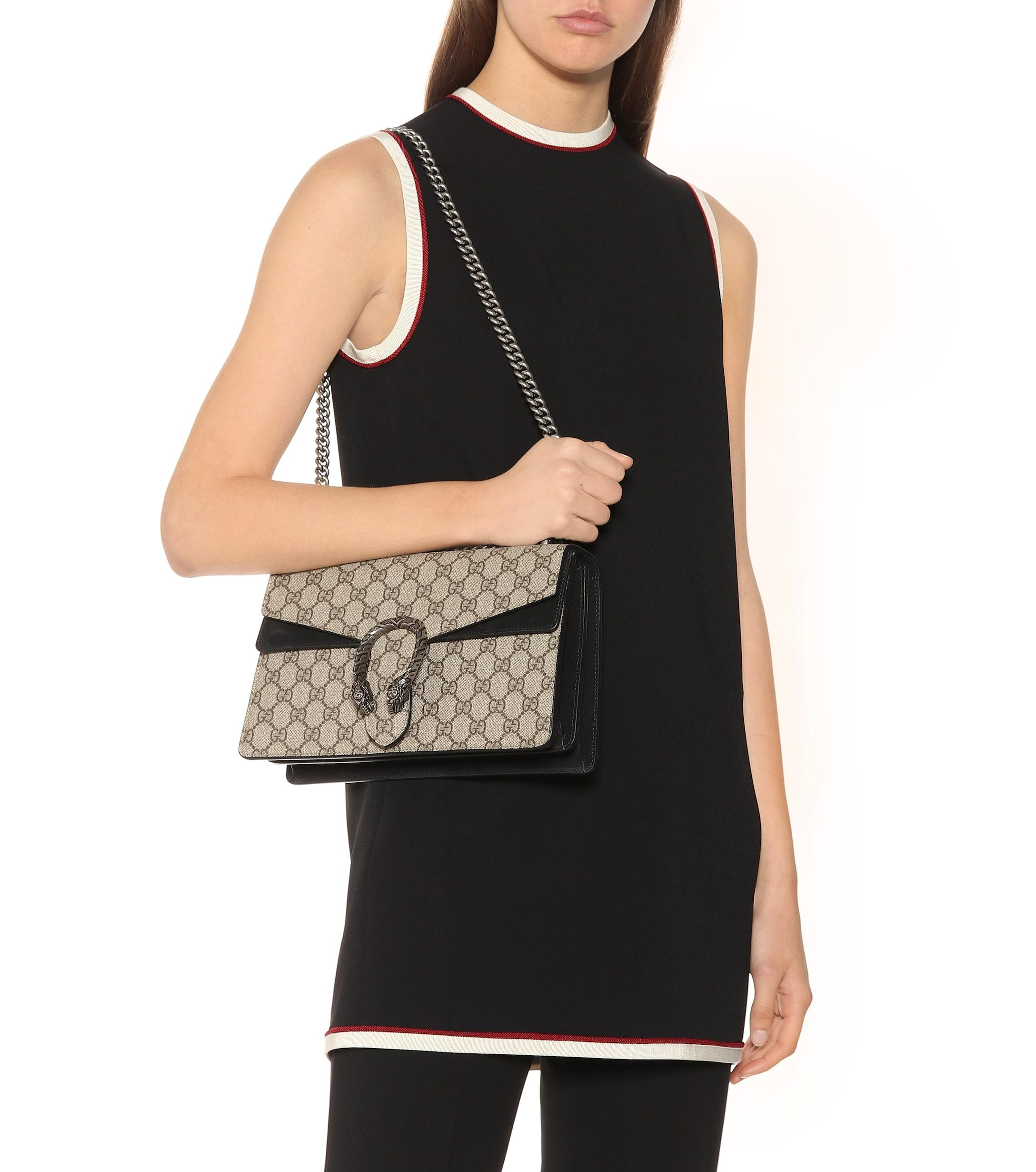 34e48acaa4918 Gucci - Natural Dionysus GG Supreme Small Shoulder Bag - Lyst. View  fullscreen