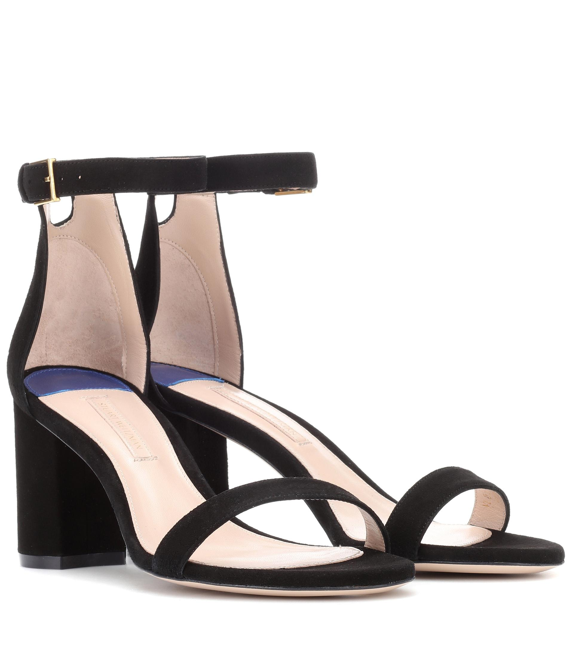buy online with paypal Stuart Weitzman 75LessNudist suede sandals buy cheap free shipping clearance from china cheap buy authentic cQgcG7qP6U
