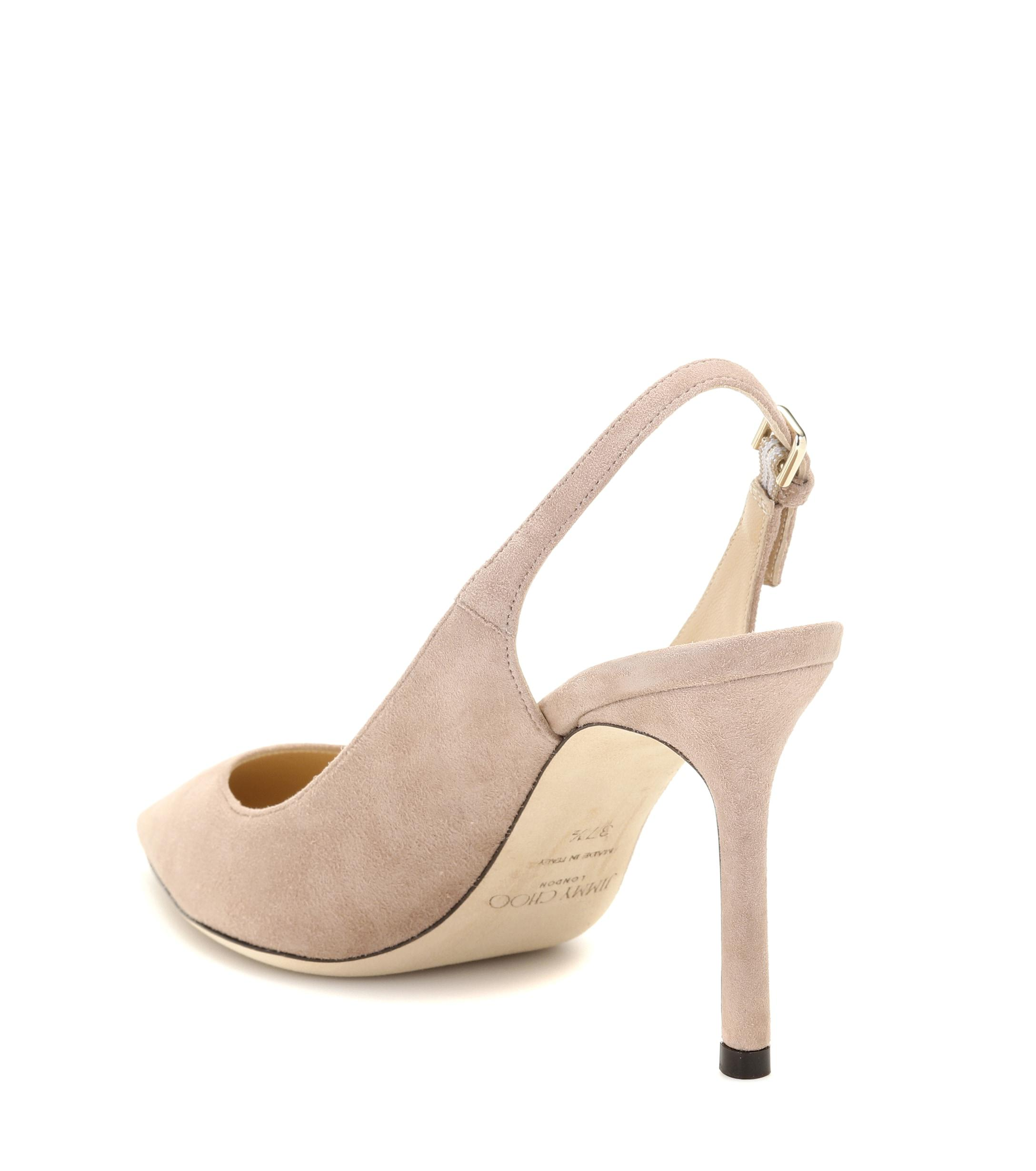 d68448a5bcde Lyst - Jimmy Choo Erin 85 Suede Slingback Pumps in Pink