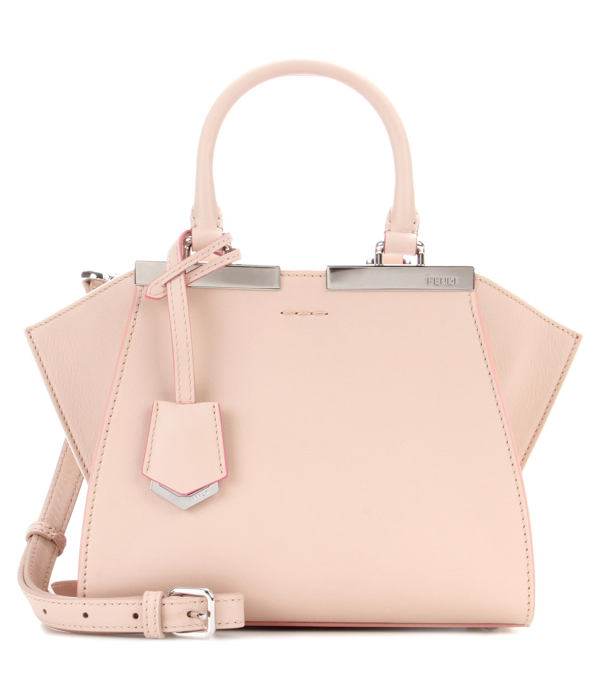 Fendi 3jours Mini Leather Tote in Pink - Lyst c57eea639ec9f