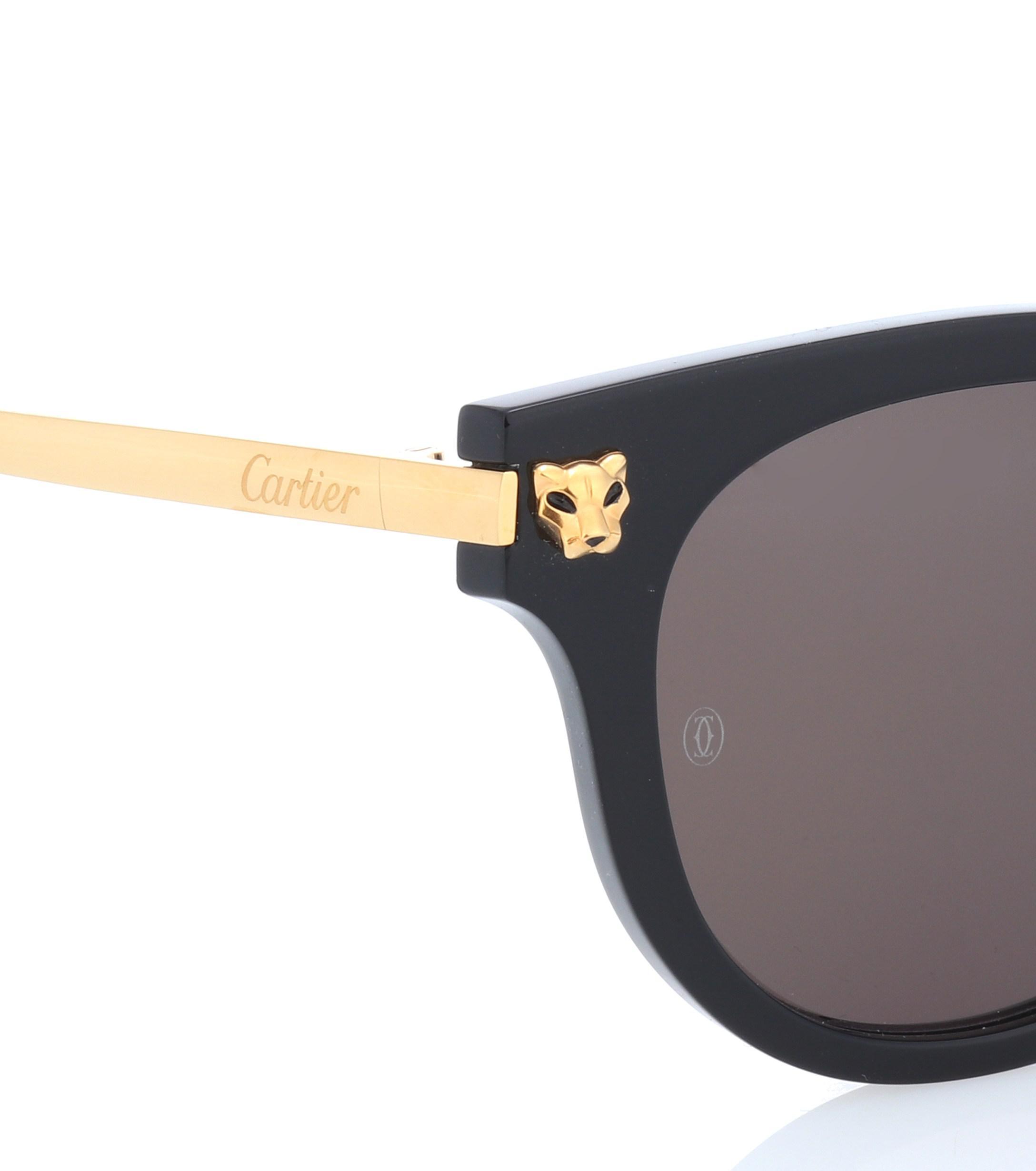 7325d28923 ... Panthère De Cartier Cat-eye Sunglasses - Lyst. View fullscreen