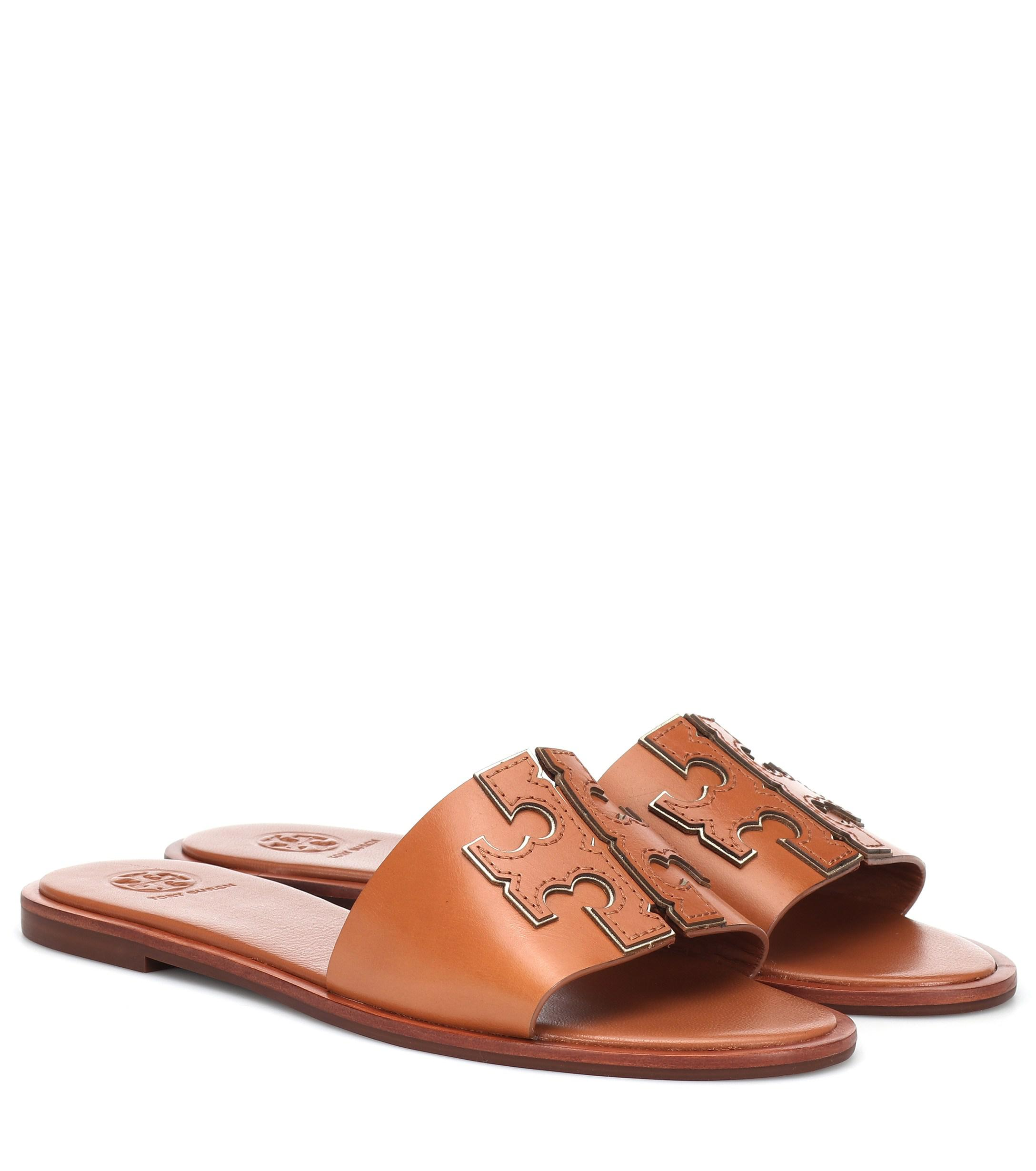 0befa07a0 Lyst - Tory Burch Ines Slides in Brown - Save 14%