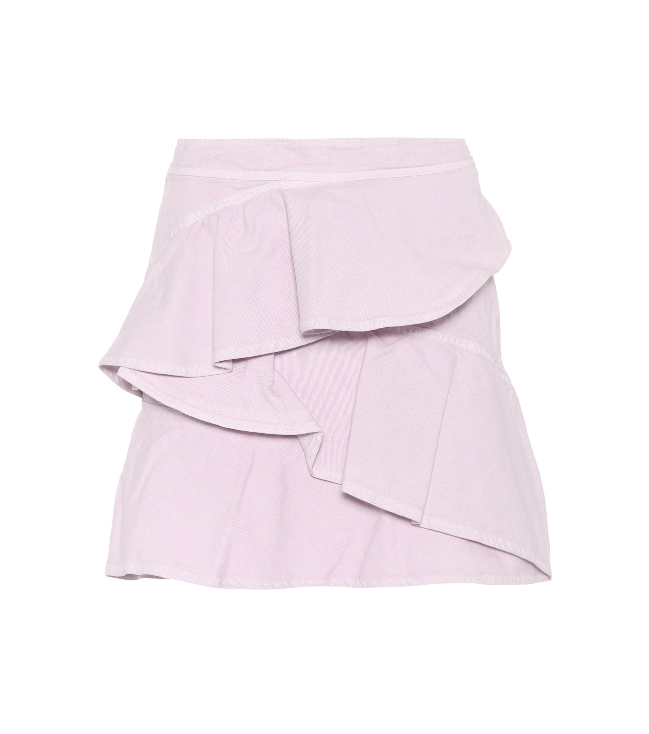 d96e2af4b Lyst - Étoile Isabel Marant Coati Cotton Miniskirt in Pink